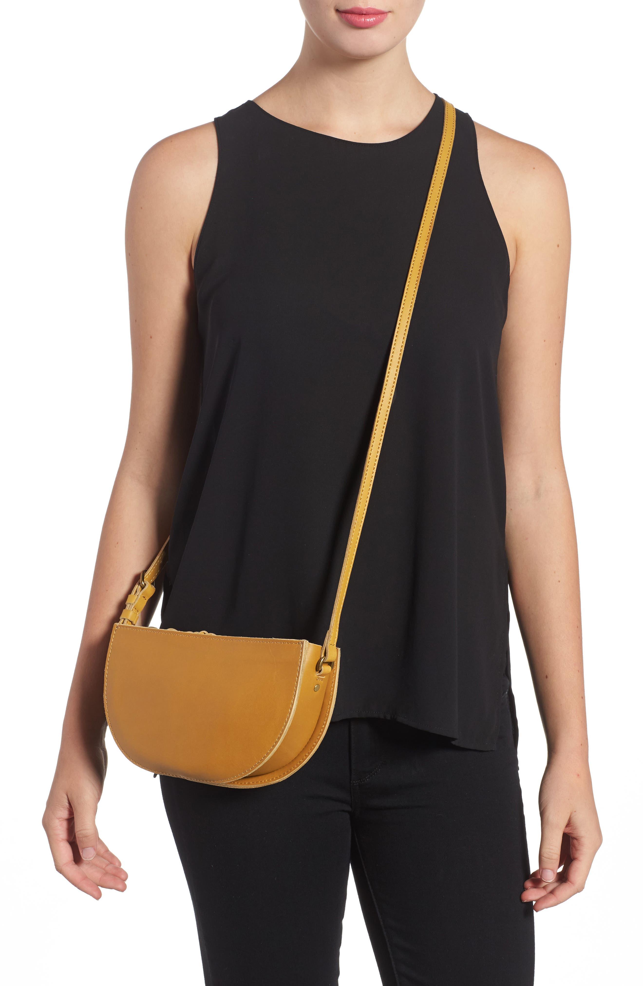 Juniper Vachetta Leather Half Moon Crossbody Bag,                             Alternate thumbnail 5, color,