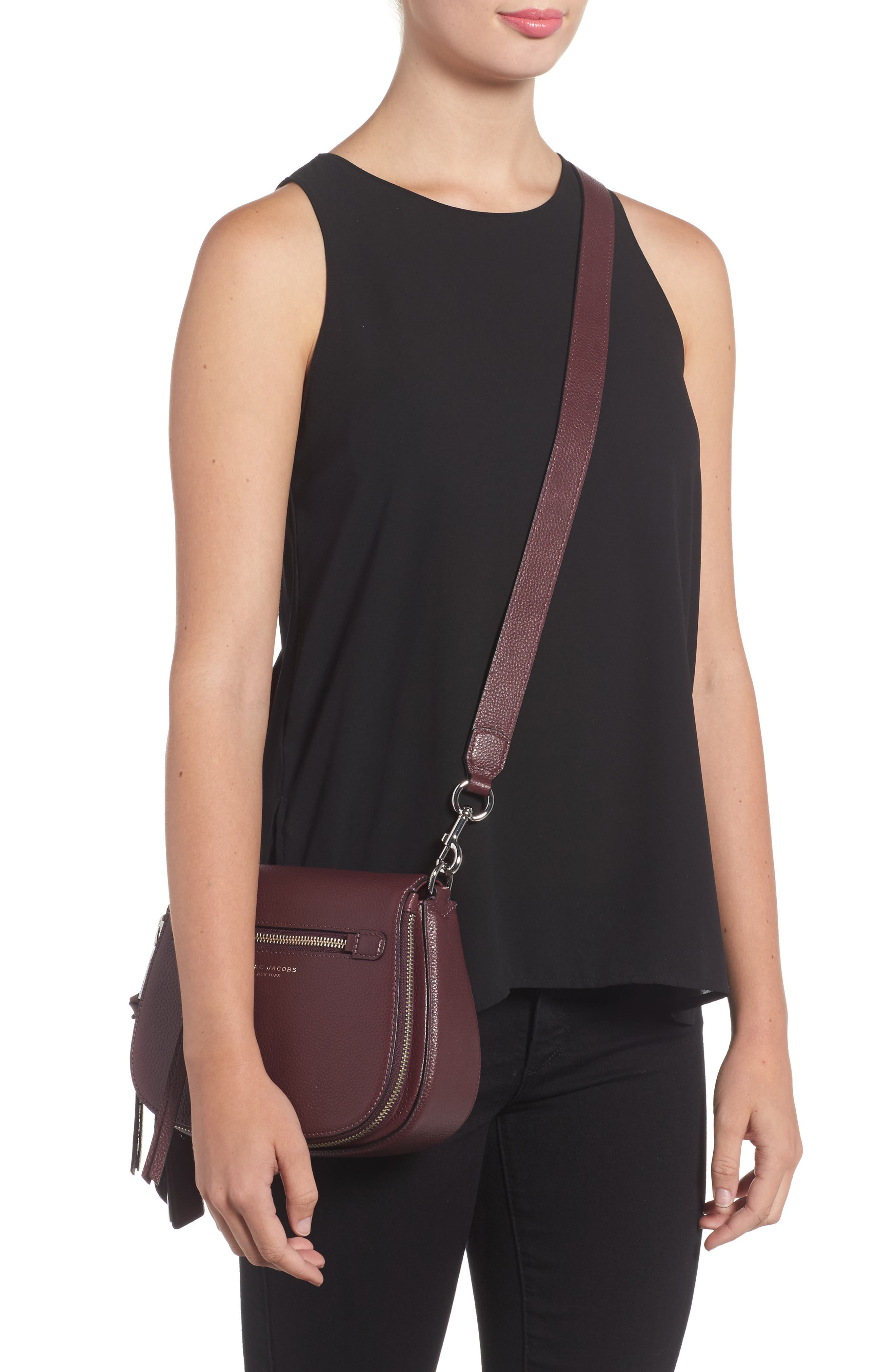 Small Recruit Nomad Pebbled Leather Crossbody Bag,                             Alternate thumbnail 16, color,