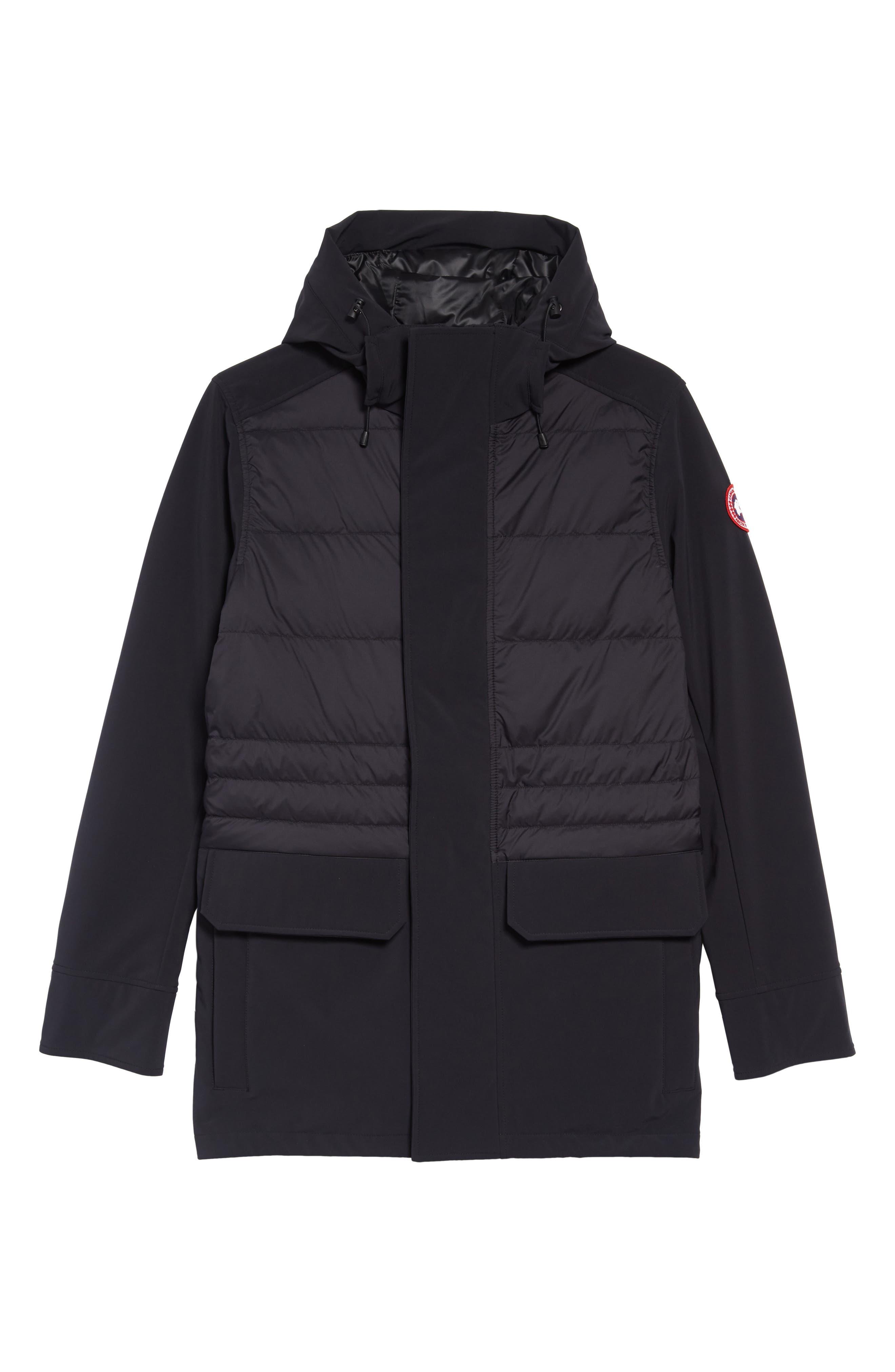 CANADA GOOSE,                             Breton 675-Fill Power Down Coat,                             Alternate thumbnail 5, color,                             BLACK