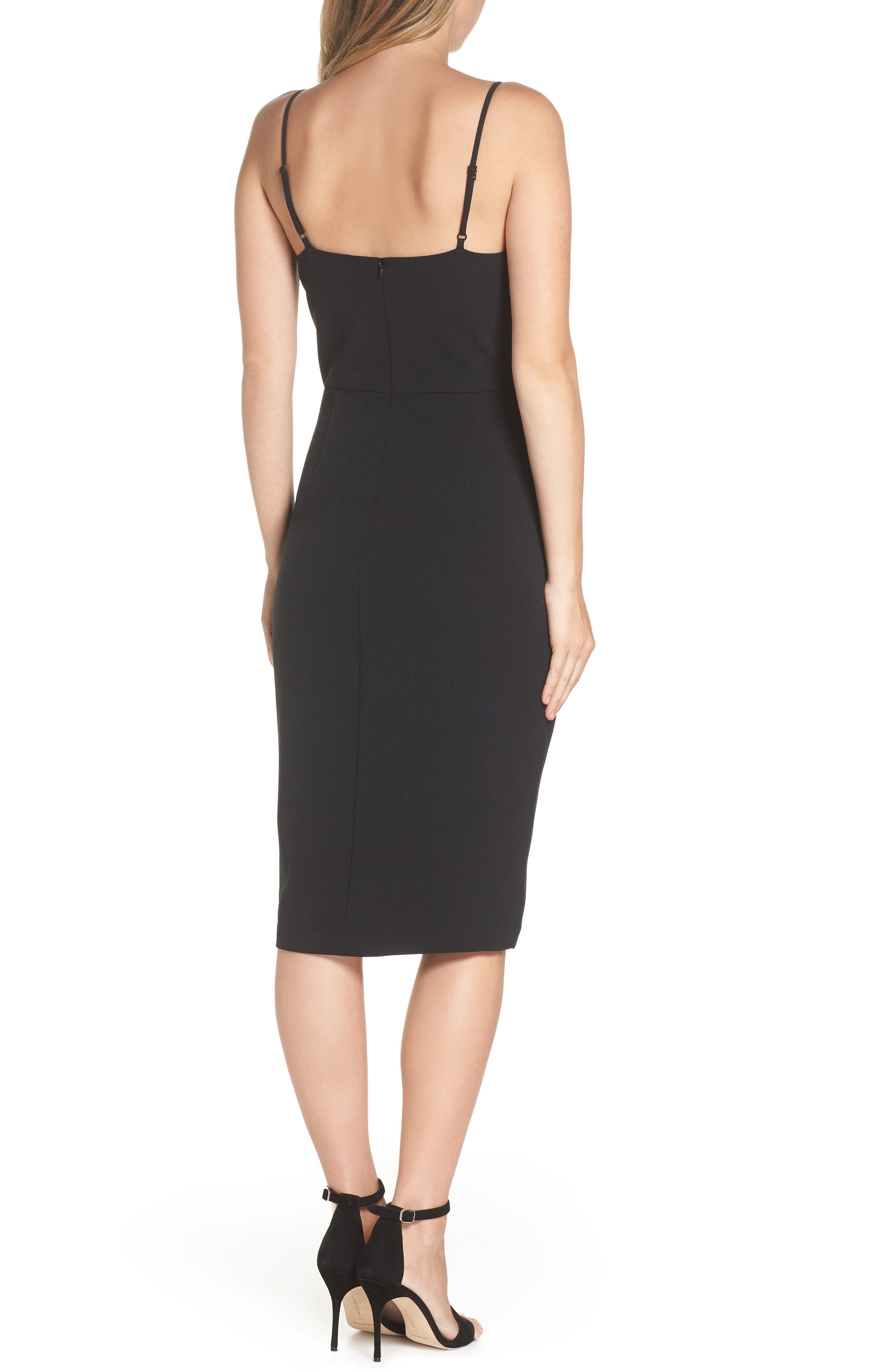 Sleeveless Cocktail Dress,                             Alternate thumbnail 2, color,                             BLACK