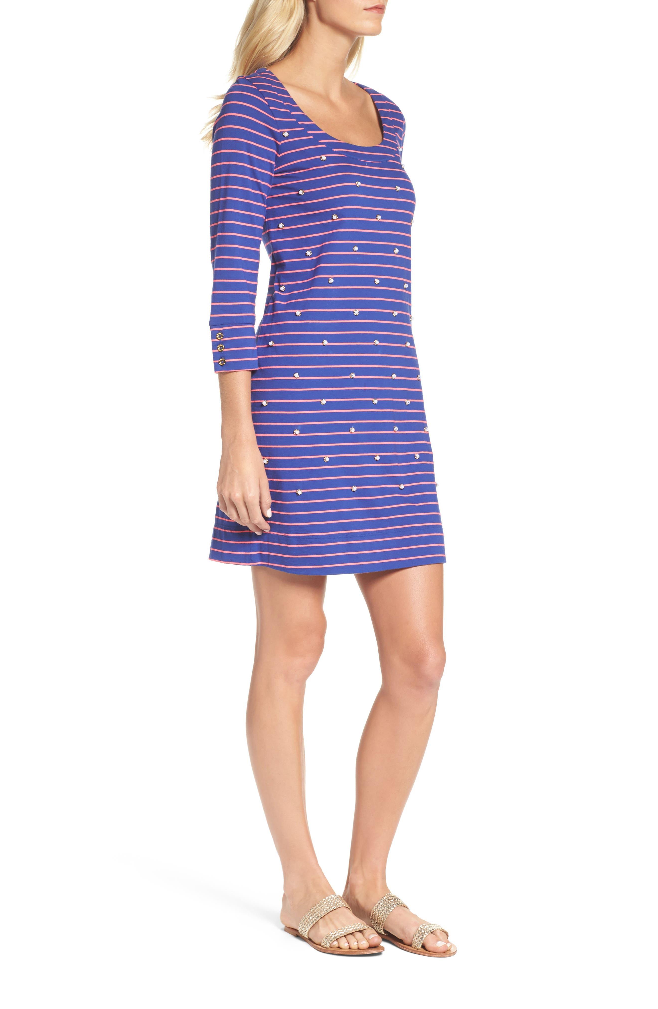 Merrit Beaded T-Shirt Dress,                             Alternate thumbnail 3, color,