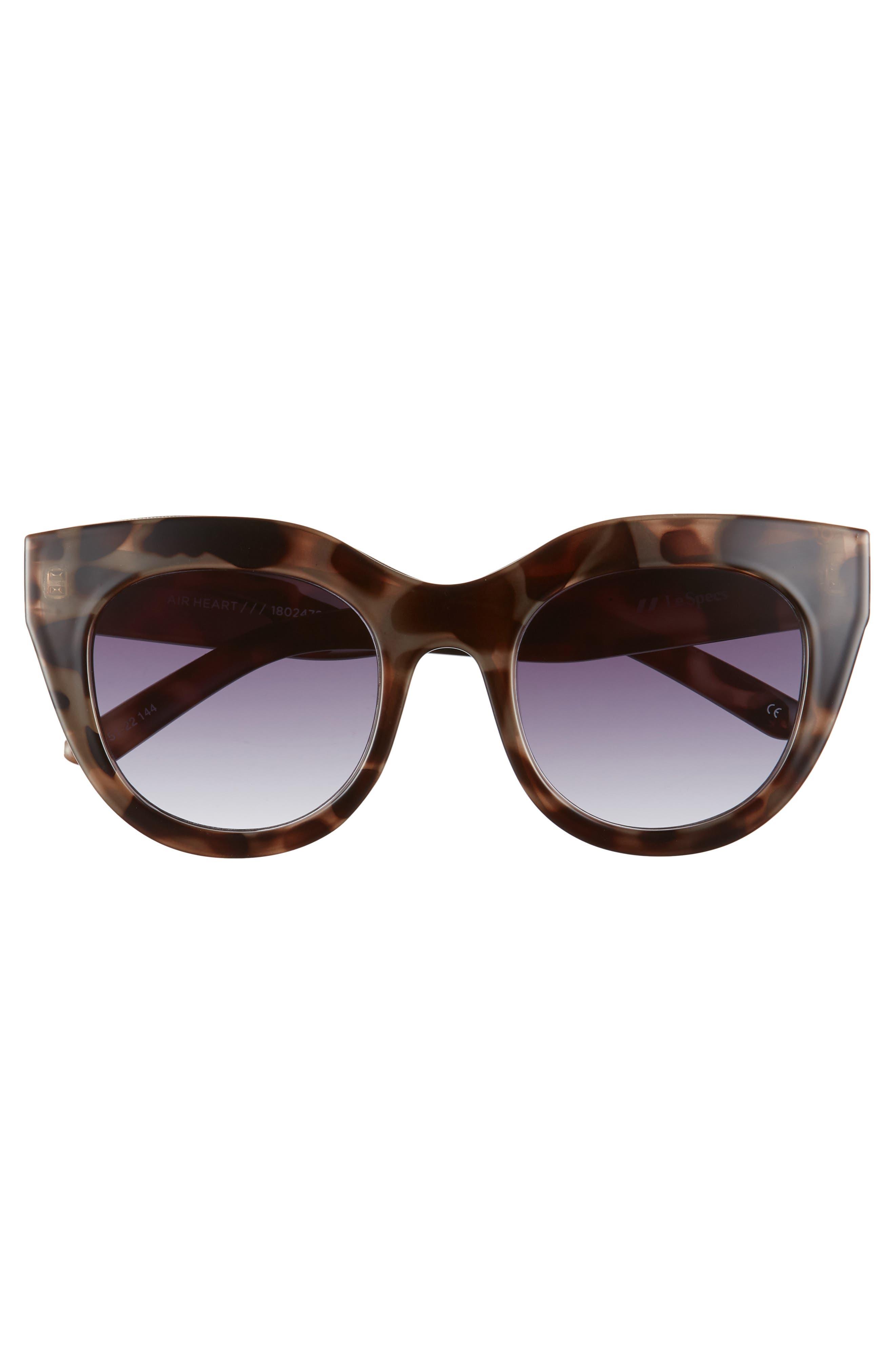 Air Heart 51mm Cat Eye Sunglasses,                             Alternate thumbnail 3, color,                             VOLCANIC TORTOISE