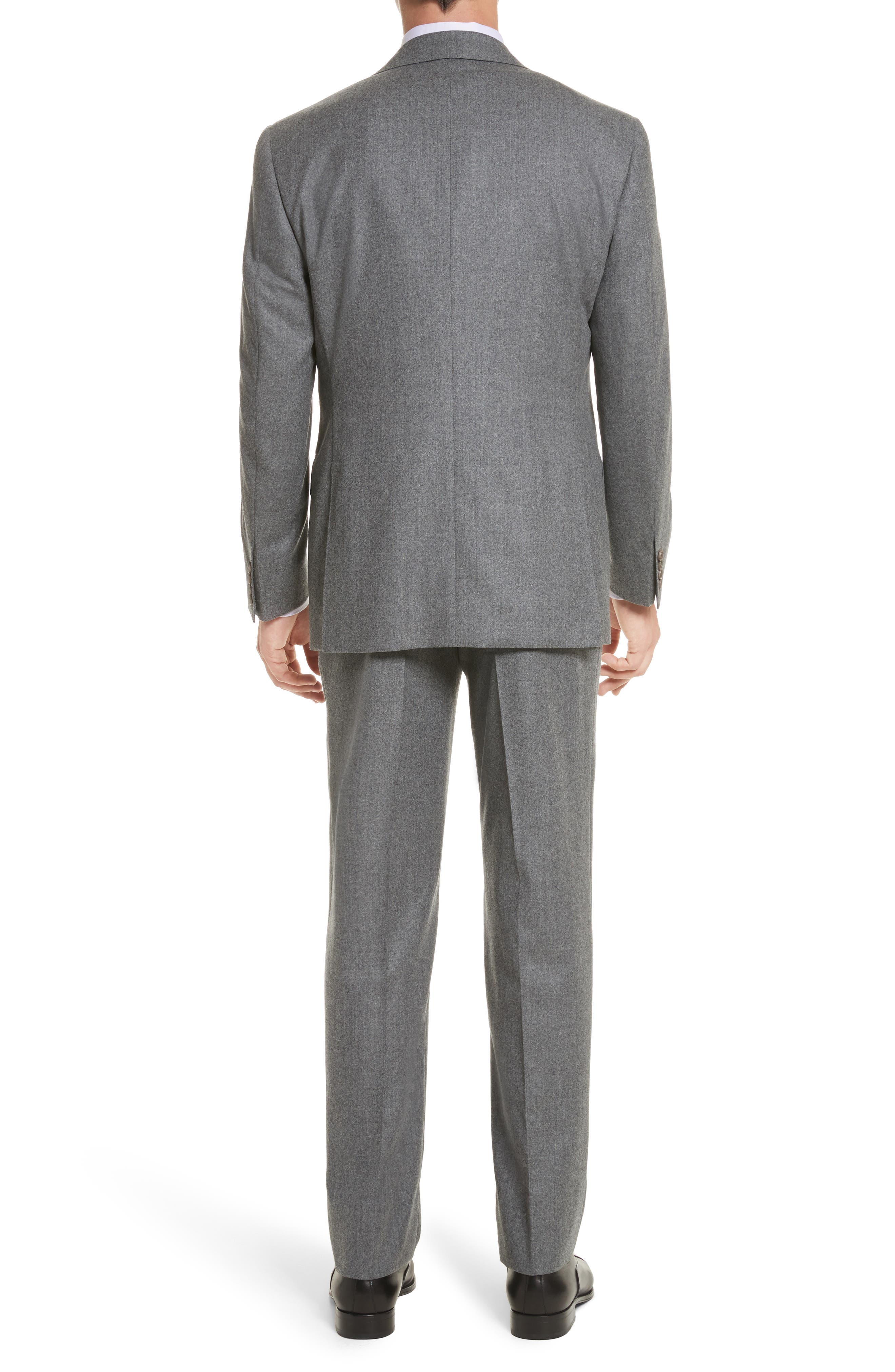 Classic Fit Solid Wool Suit,                             Alternate thumbnail 2, color,