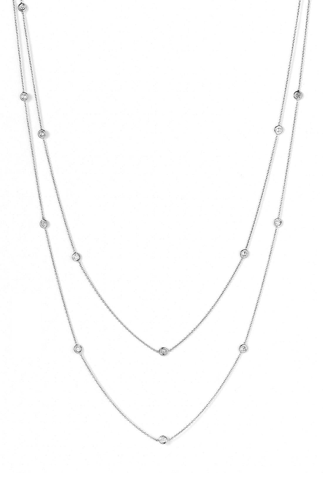 Diamond Station Necklace,                             Alternate thumbnail 5, color,