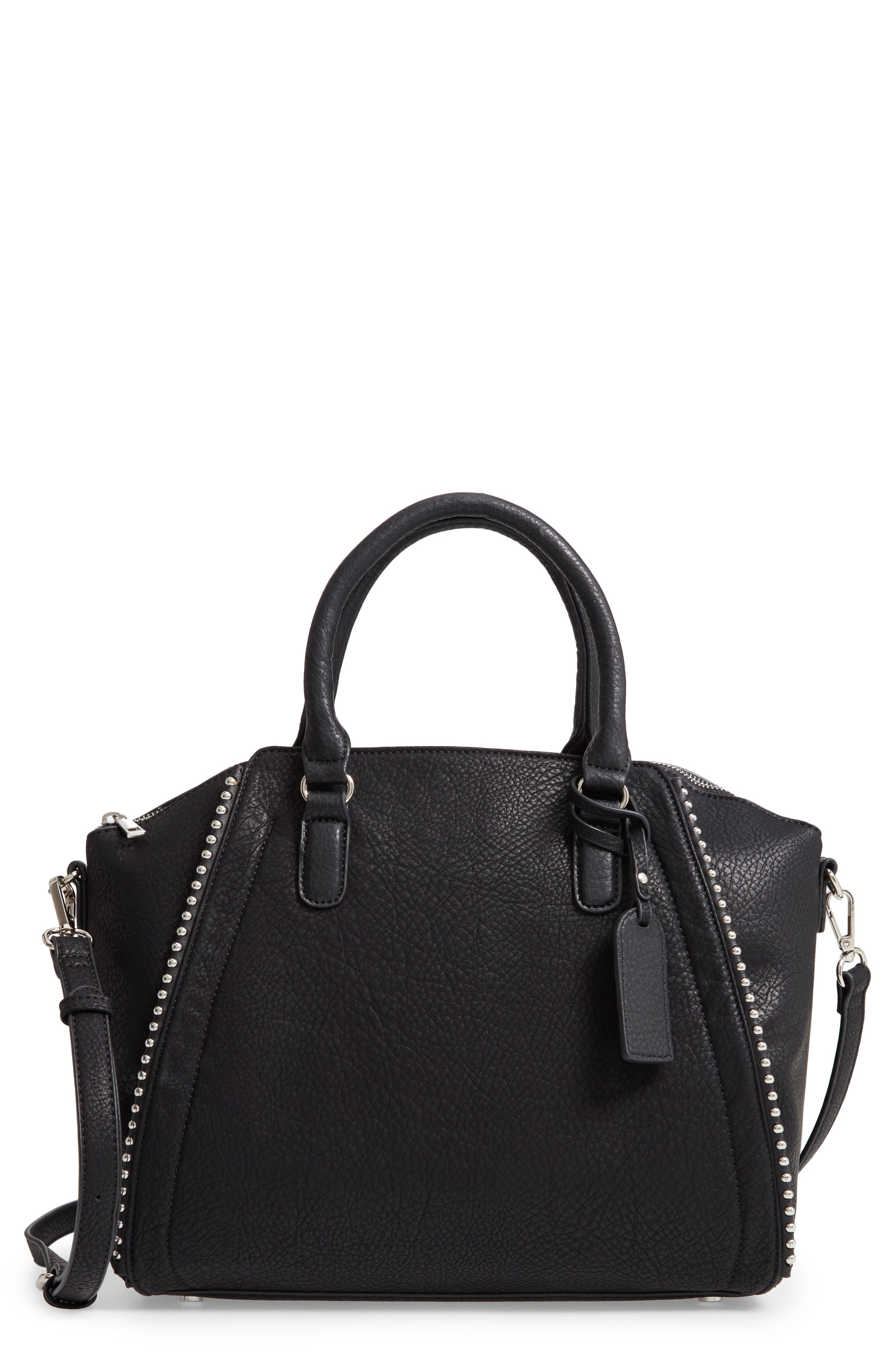 SOLE SOCIETY,                             Eytal Faux Leather Tote,                             Main thumbnail 1, color,                             001