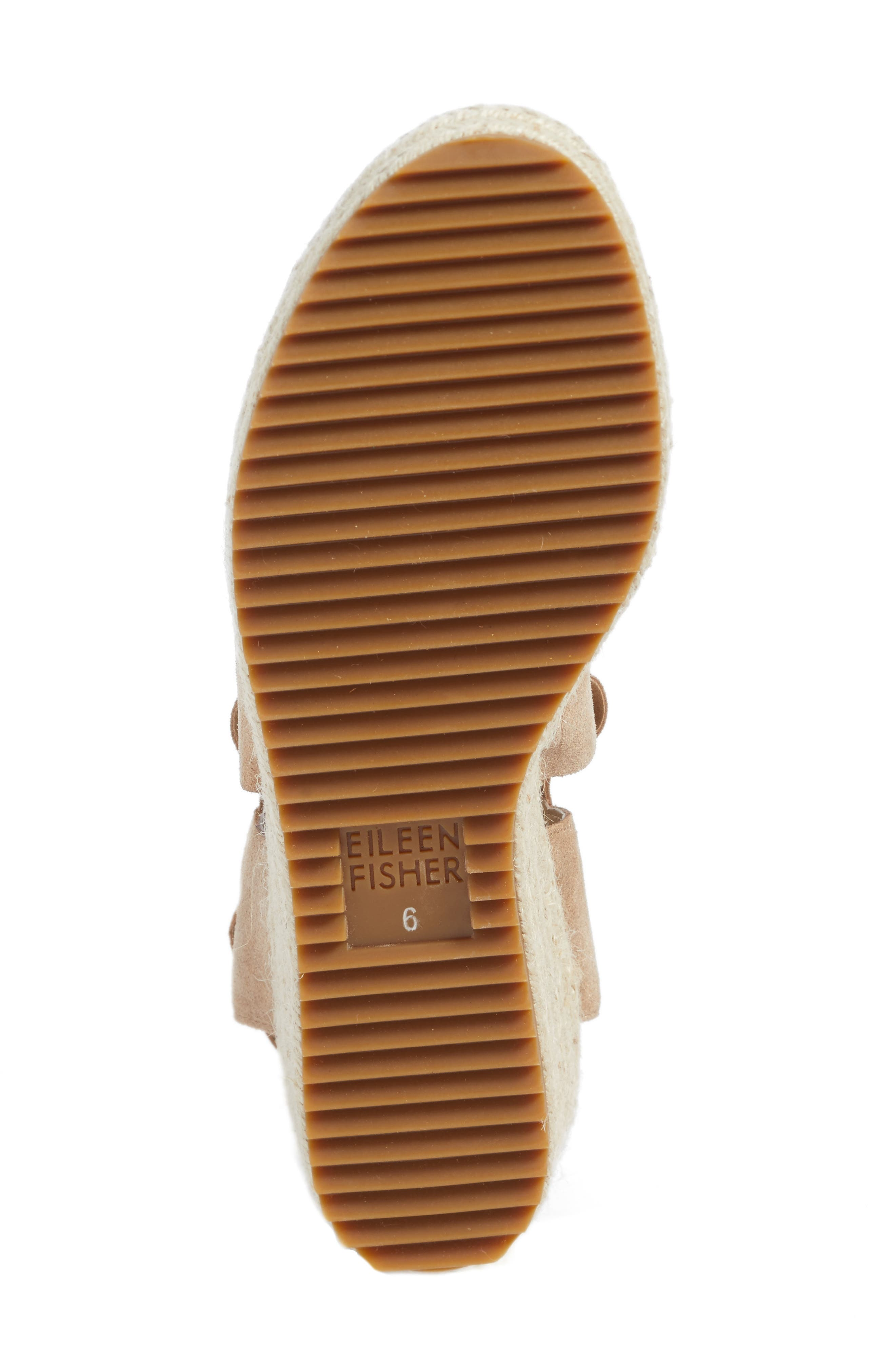 'Willow' Espadrille Wedge Sandal,                             Alternate thumbnail 6, color,                             LIGHT GOLD STARRY LEATHER