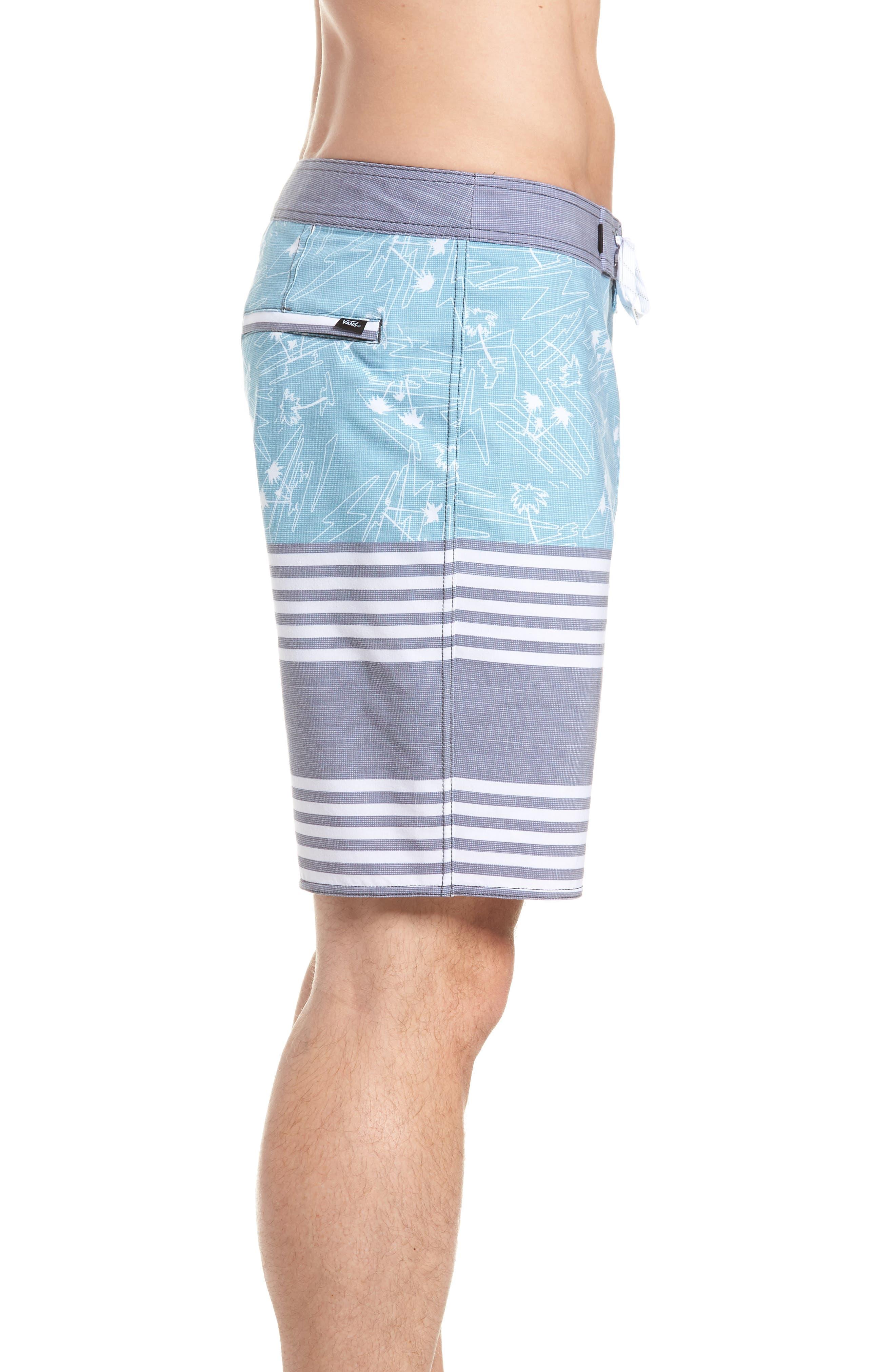 Era Board Shorts,                             Alternate thumbnail 3, color,                             DRESS BLUES ISLAND BEACH