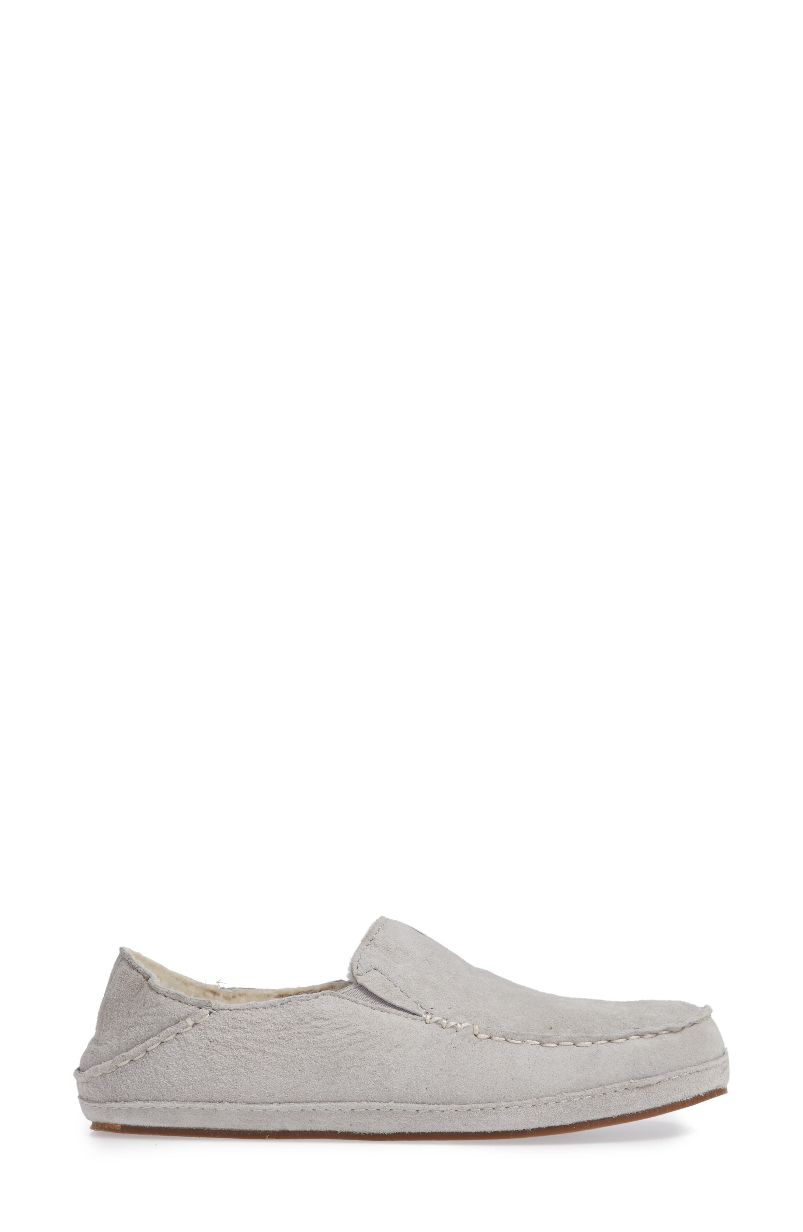 Nohea Nubuck Slipper,                             Alternate thumbnail 2, color,                             PALE GREY/ PALE GREY LEATHER
