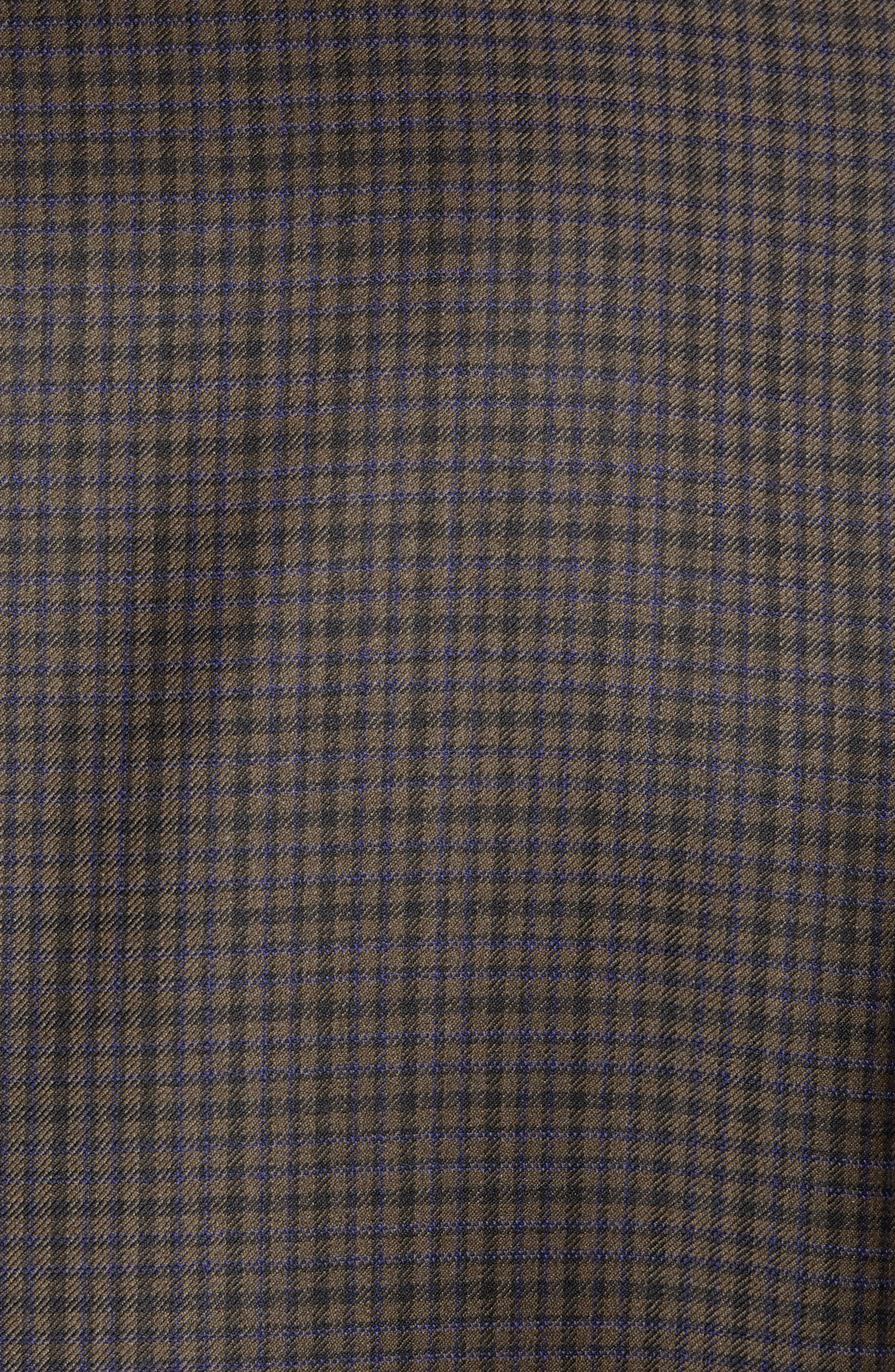 Traditional Fit Check Wool Sport Coat,                             Alternate thumbnail 6, color,                             BROWN