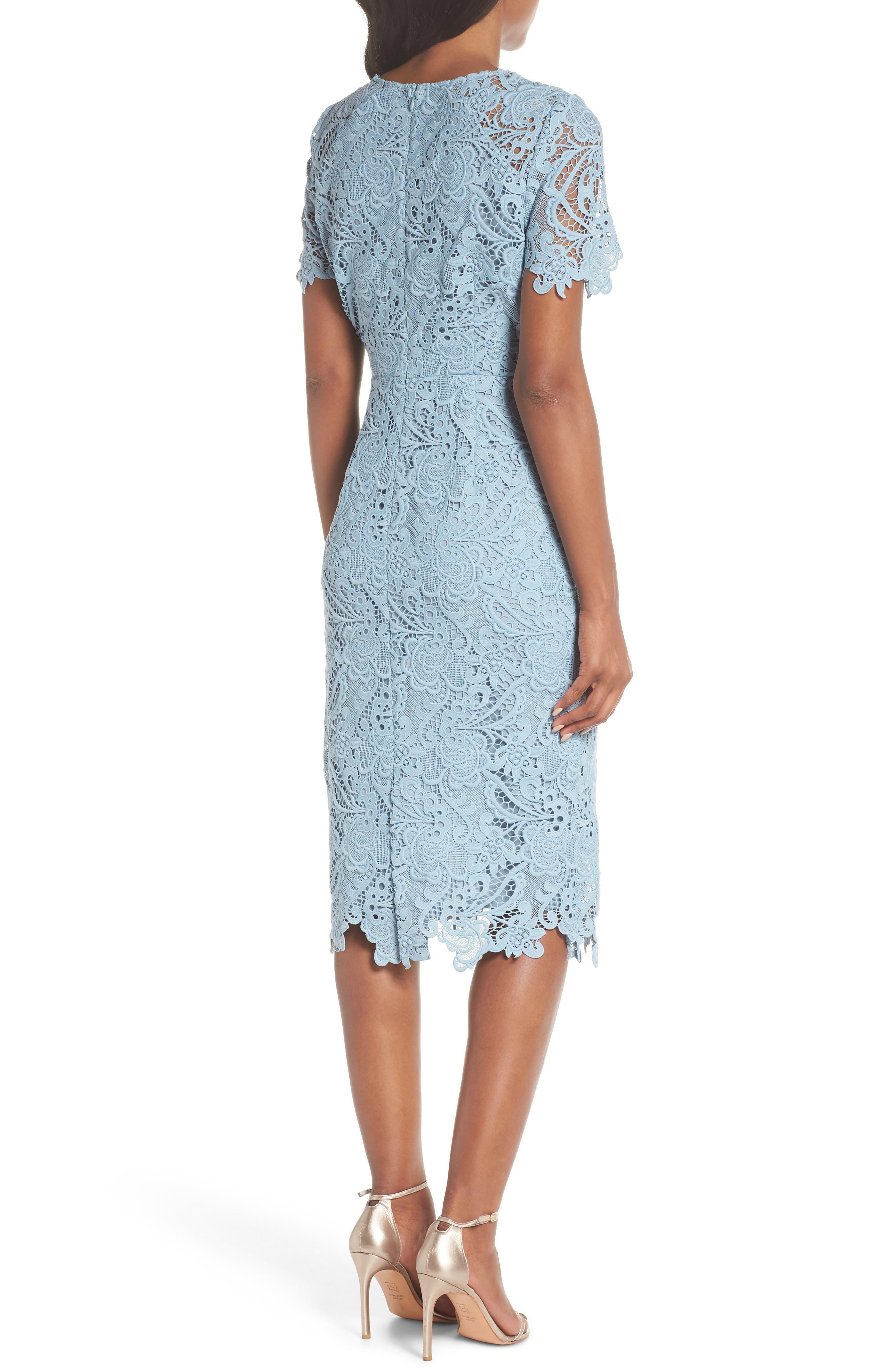 Lace Sheath Dress,                             Alternate thumbnail 2, color,                             420