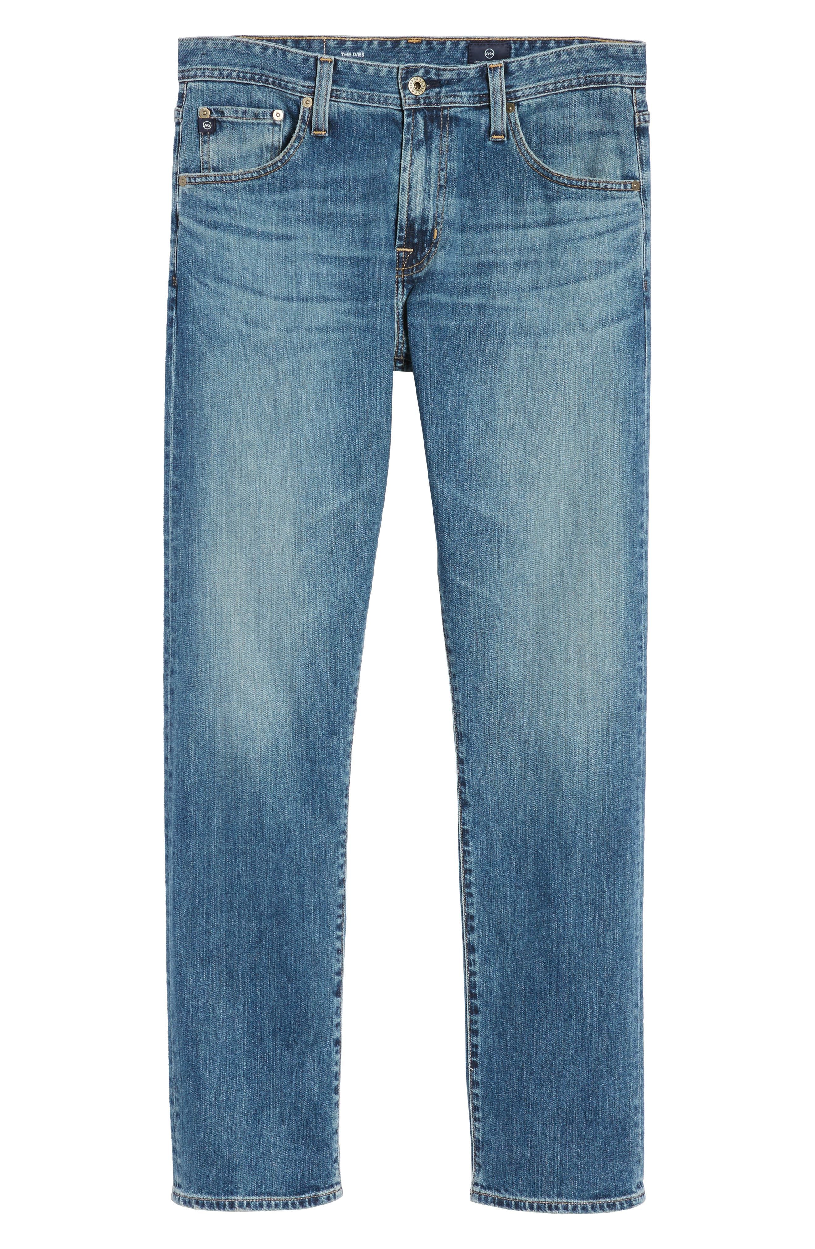 Ives Straight Fit Jeans,                             Alternate thumbnail 6, color,                             419