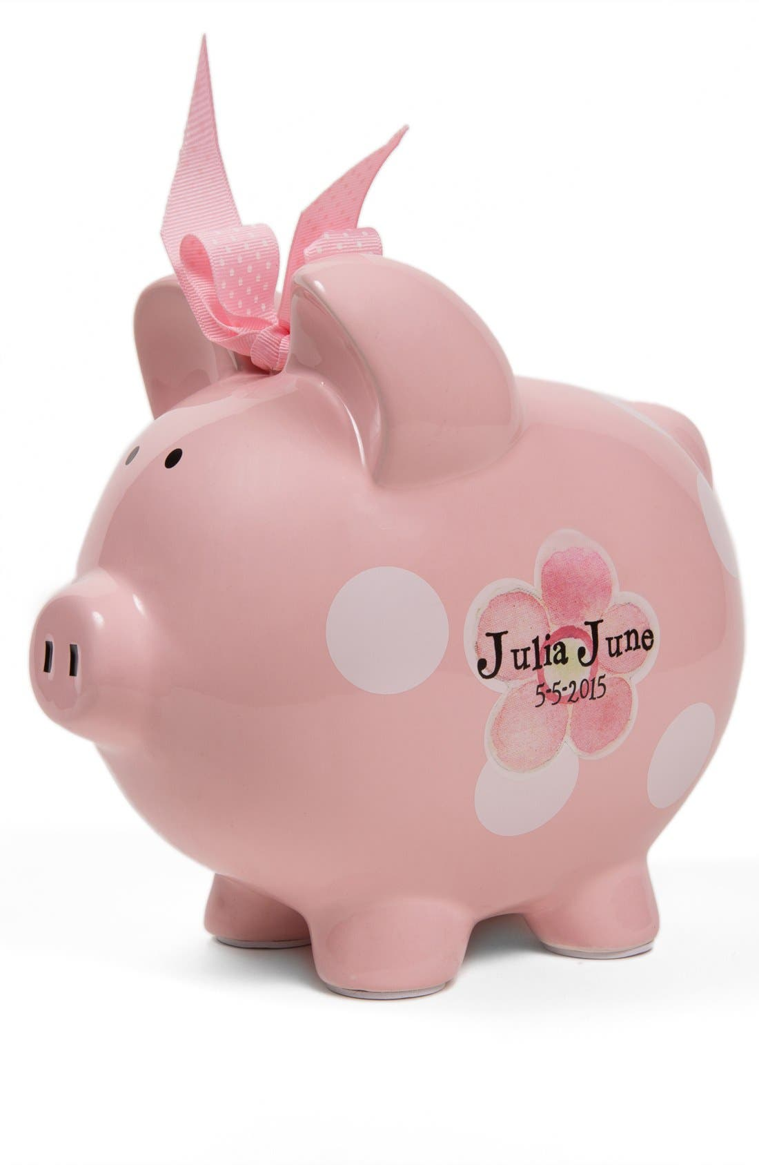 Personalized Piggy Bank,                             Main thumbnail 1, color,                             100