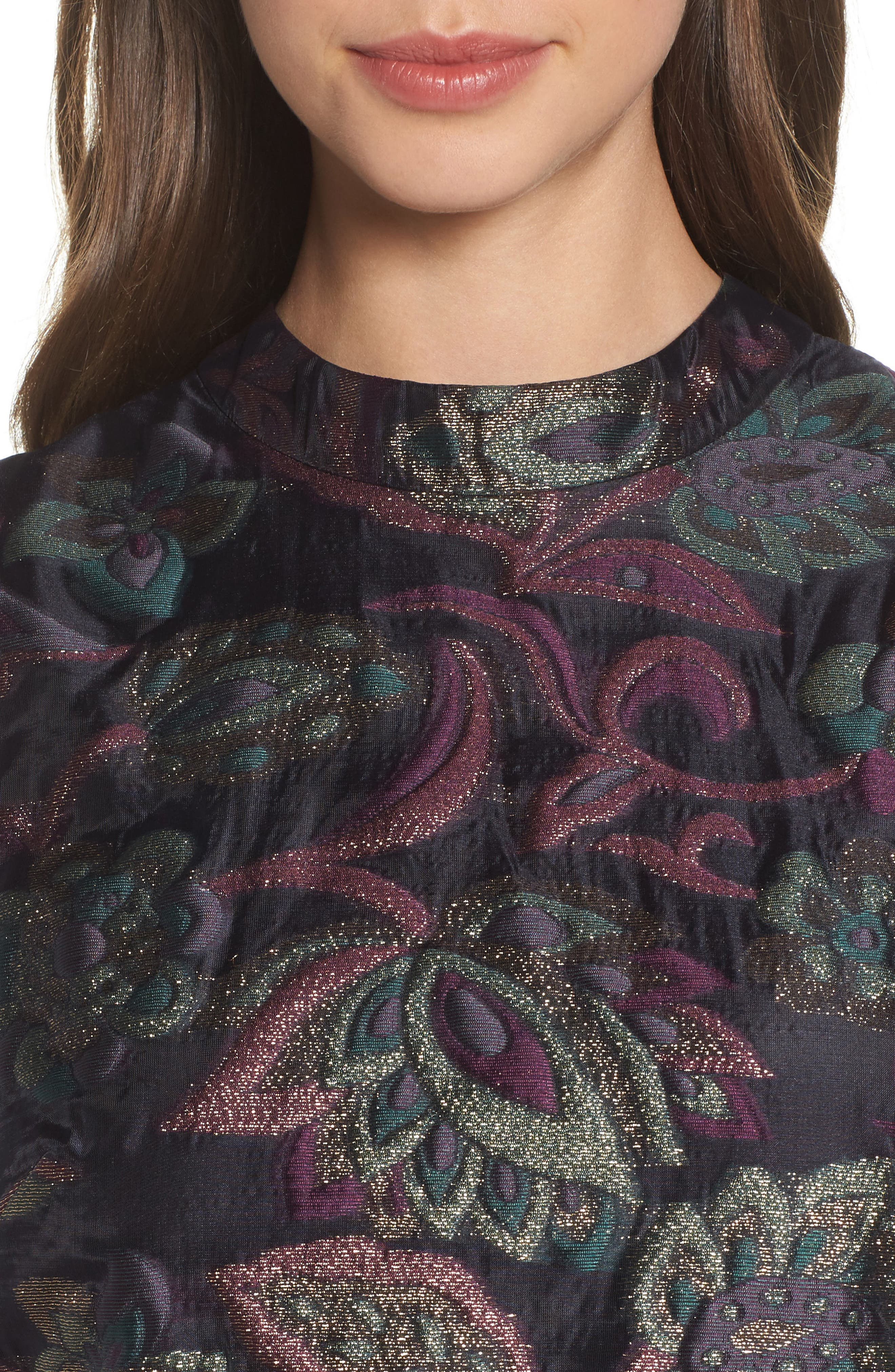 Jacquard Shift Dress,                             Alternate thumbnail 4, color,