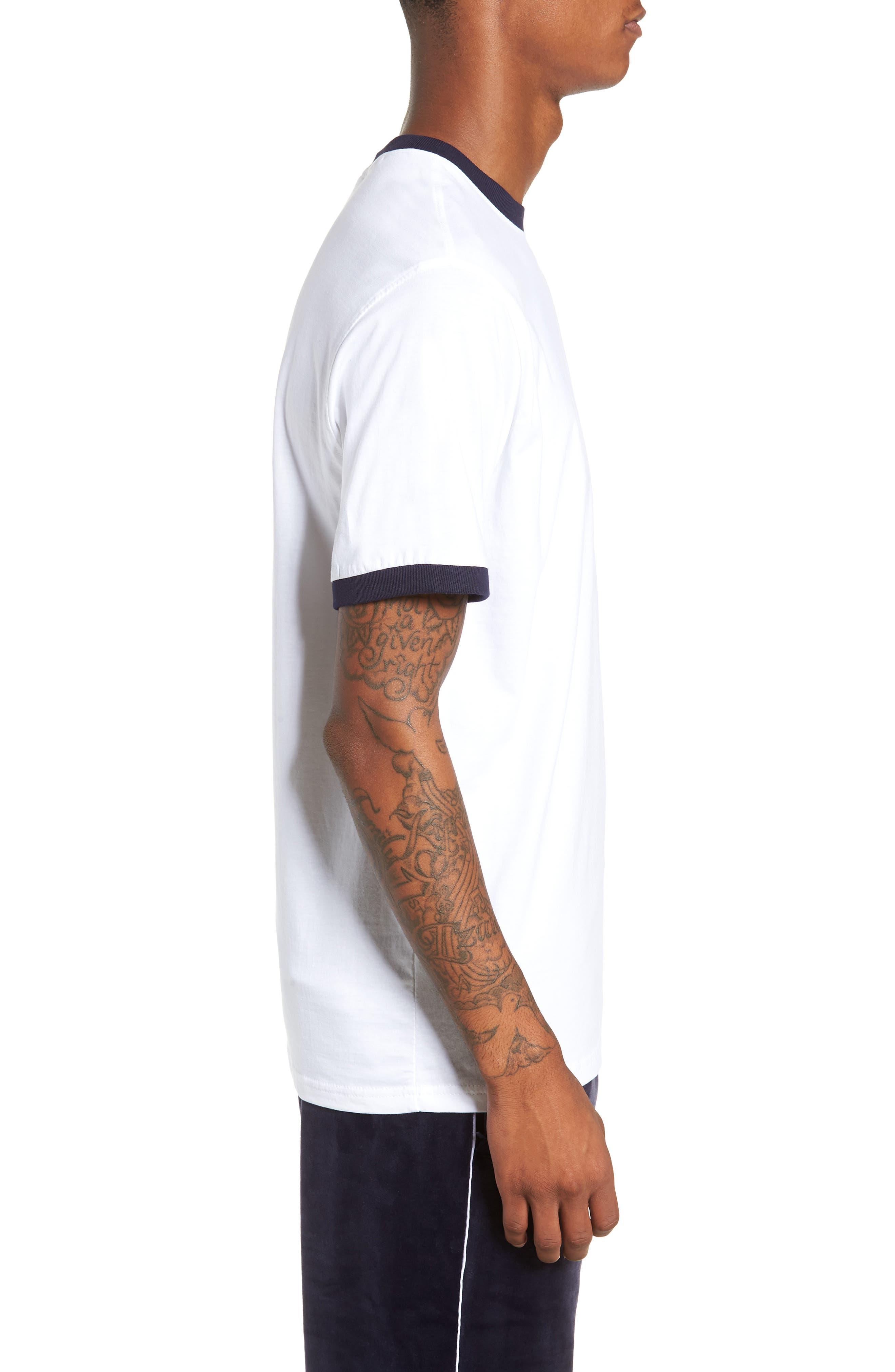 Roscoe Ringer T-Shirt,                             Alternate thumbnail 3, color,                             WHITE/ PEACOAT