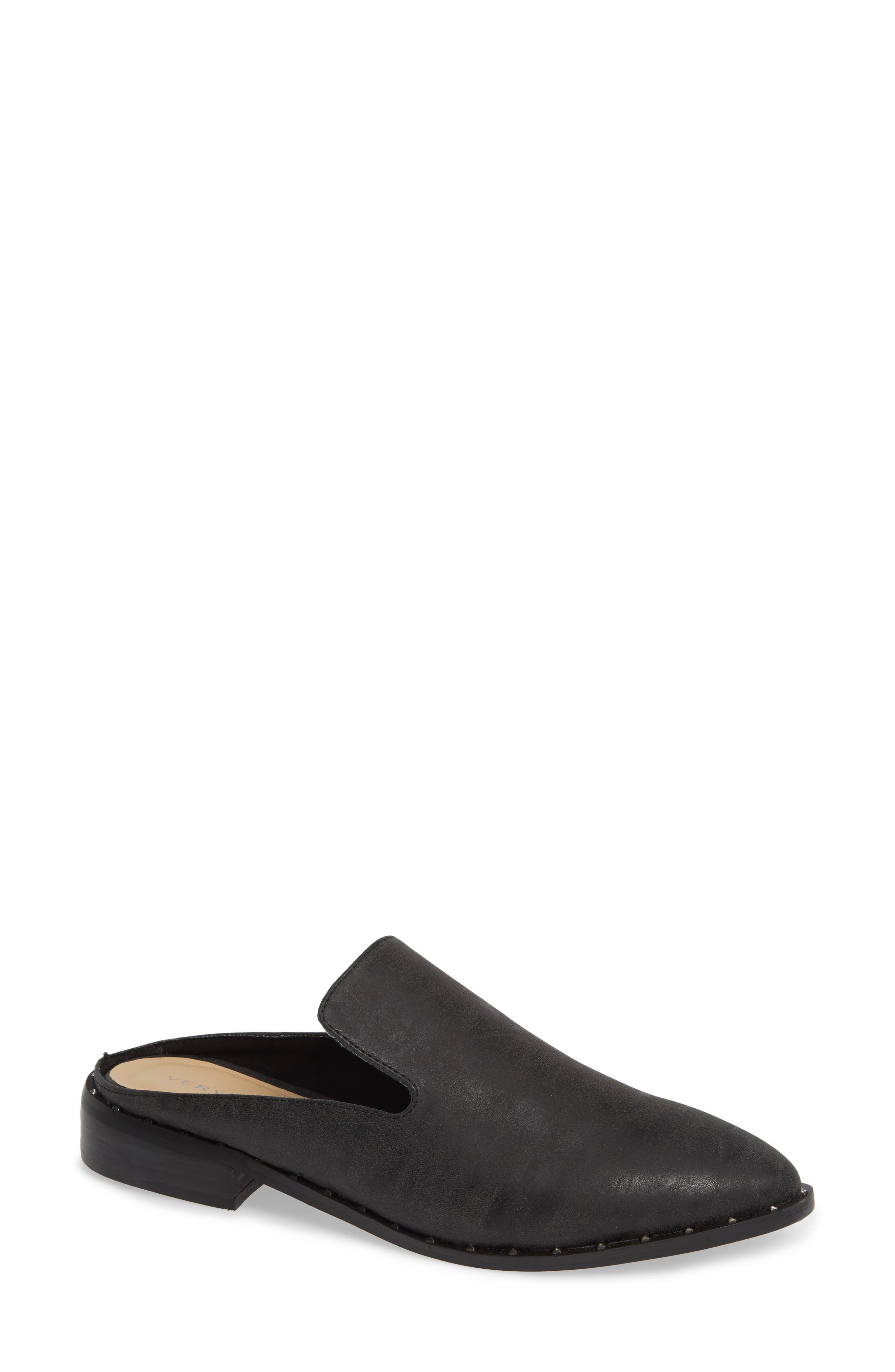 Lemans Mule, Main, color, BLACK FABRIC