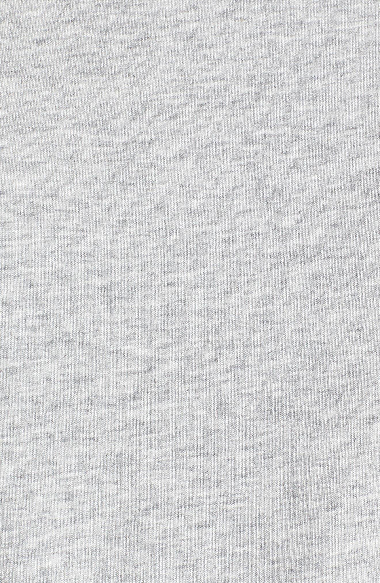 Drawcord Peplum Cotton Blend Top,                             Alternate thumbnail 6, color,                             030