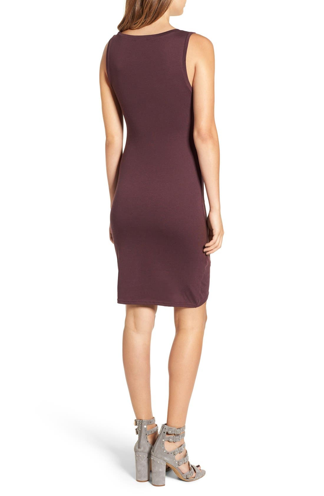 Ruched Body-Con Tank Dress,                             Alternate thumbnail 203, color,