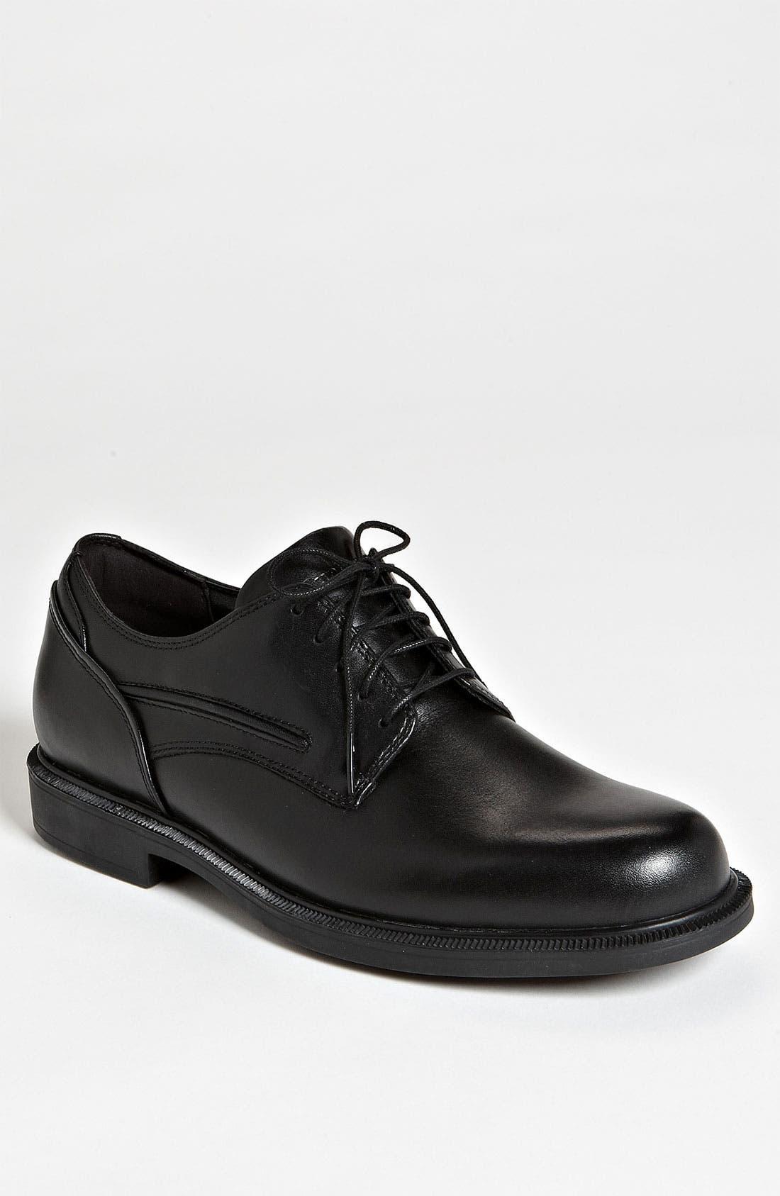 'Burlington' Oxford,                         Main,                         color, BLACK LEATHER