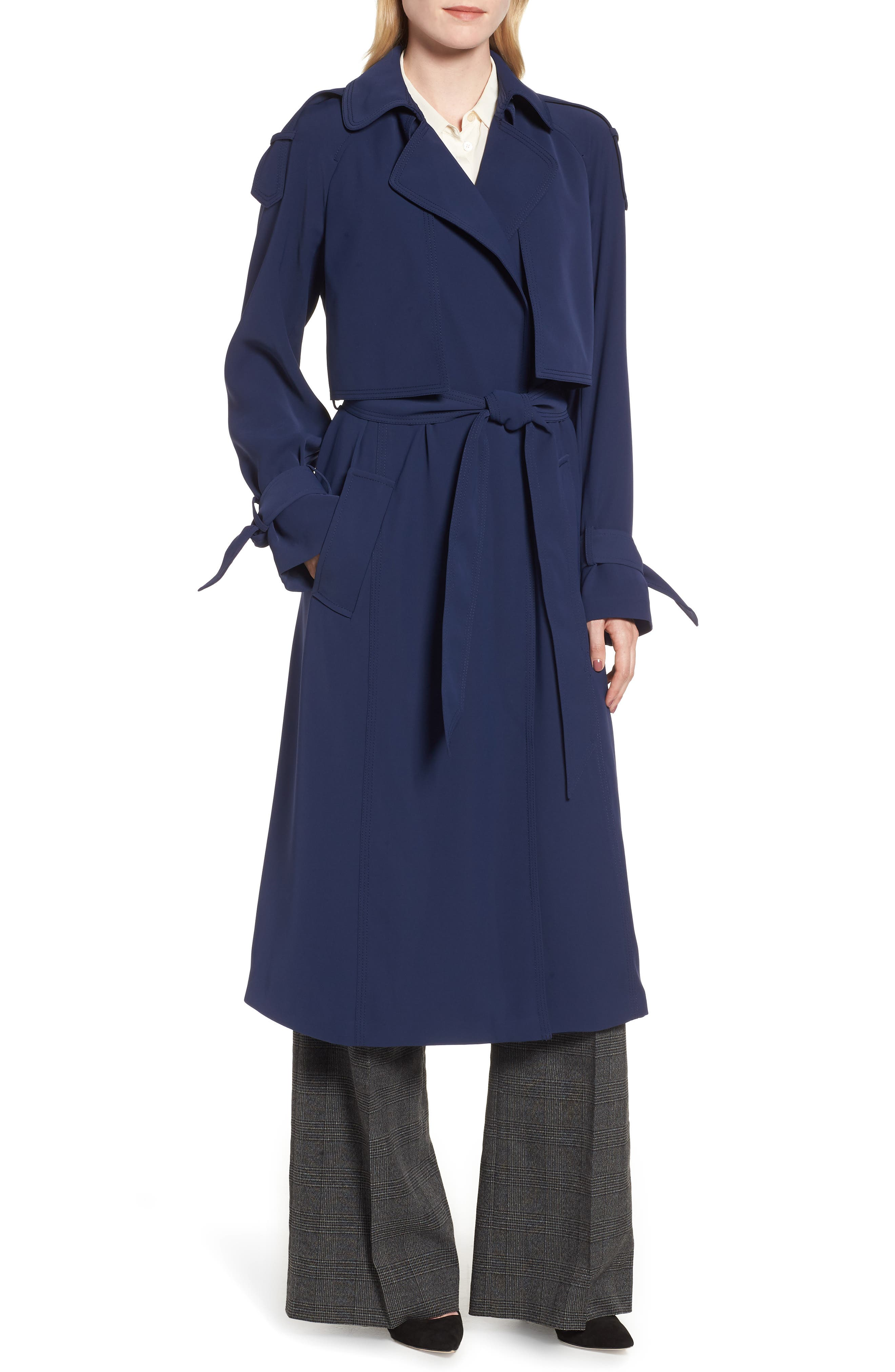 Drapey Trench Caot,                             Alternate thumbnail 4, color,                             456