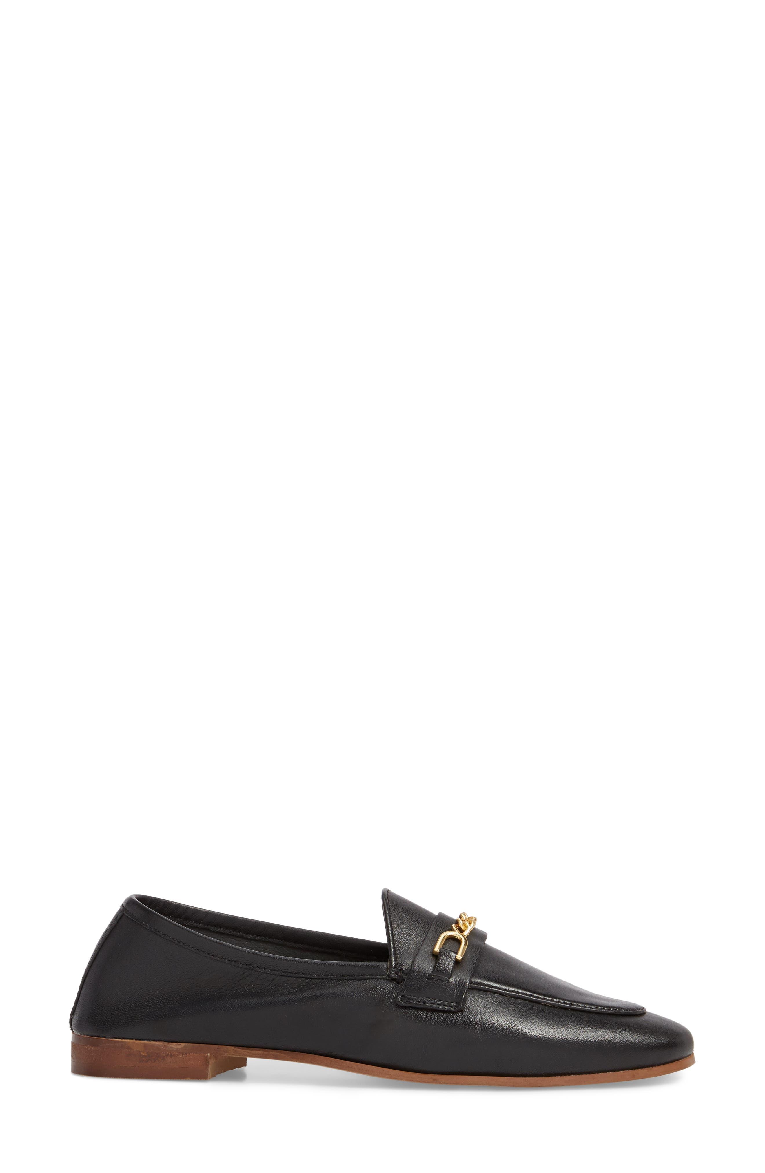 Key Trim Chain Loafer,                             Alternate thumbnail 3, color,                             BLACK MULTI