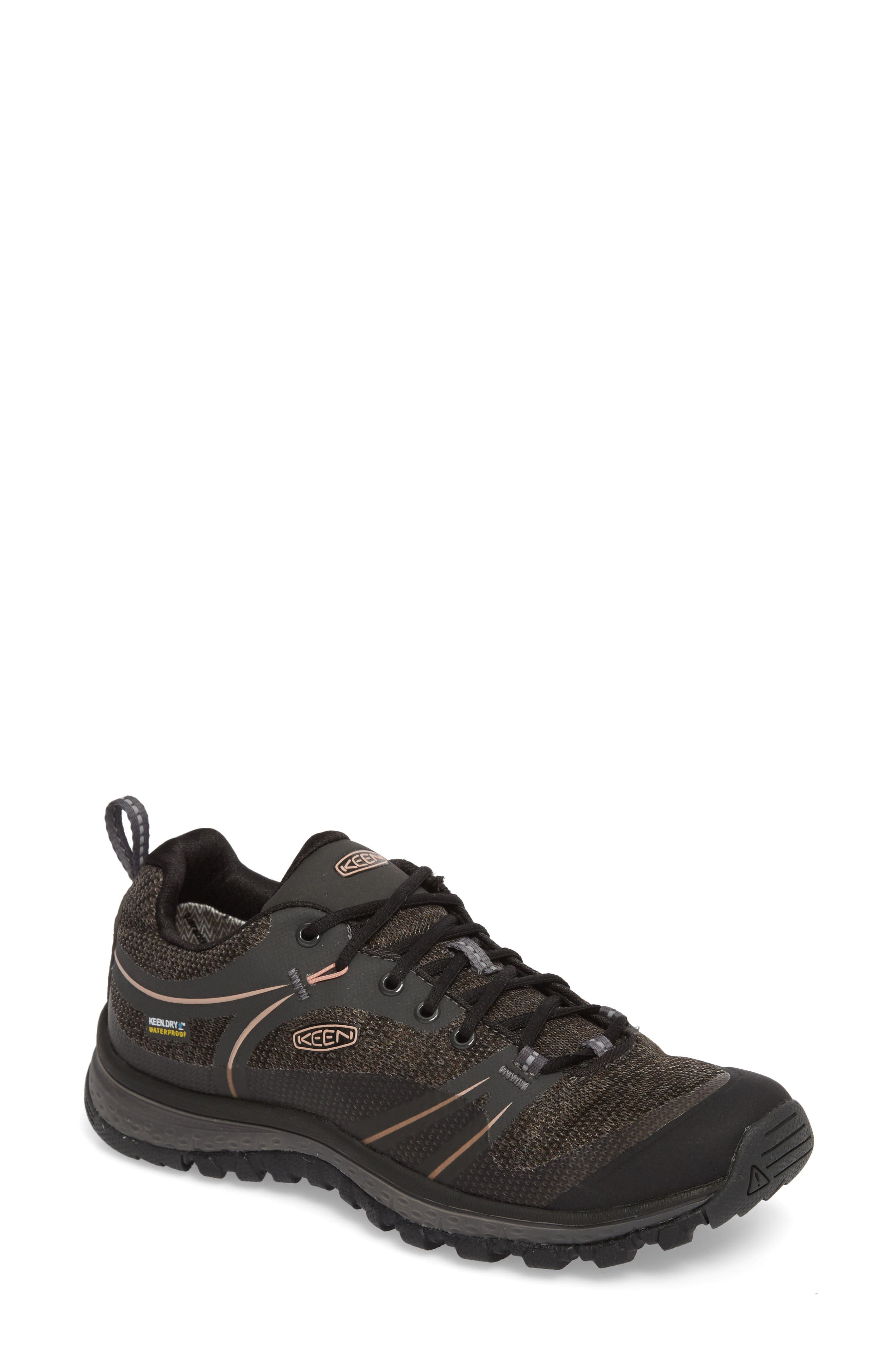 Terradora Waterproof Hiking Shoe,                             Main thumbnail 1, color,                             RAVEN/ ROSE DAWN