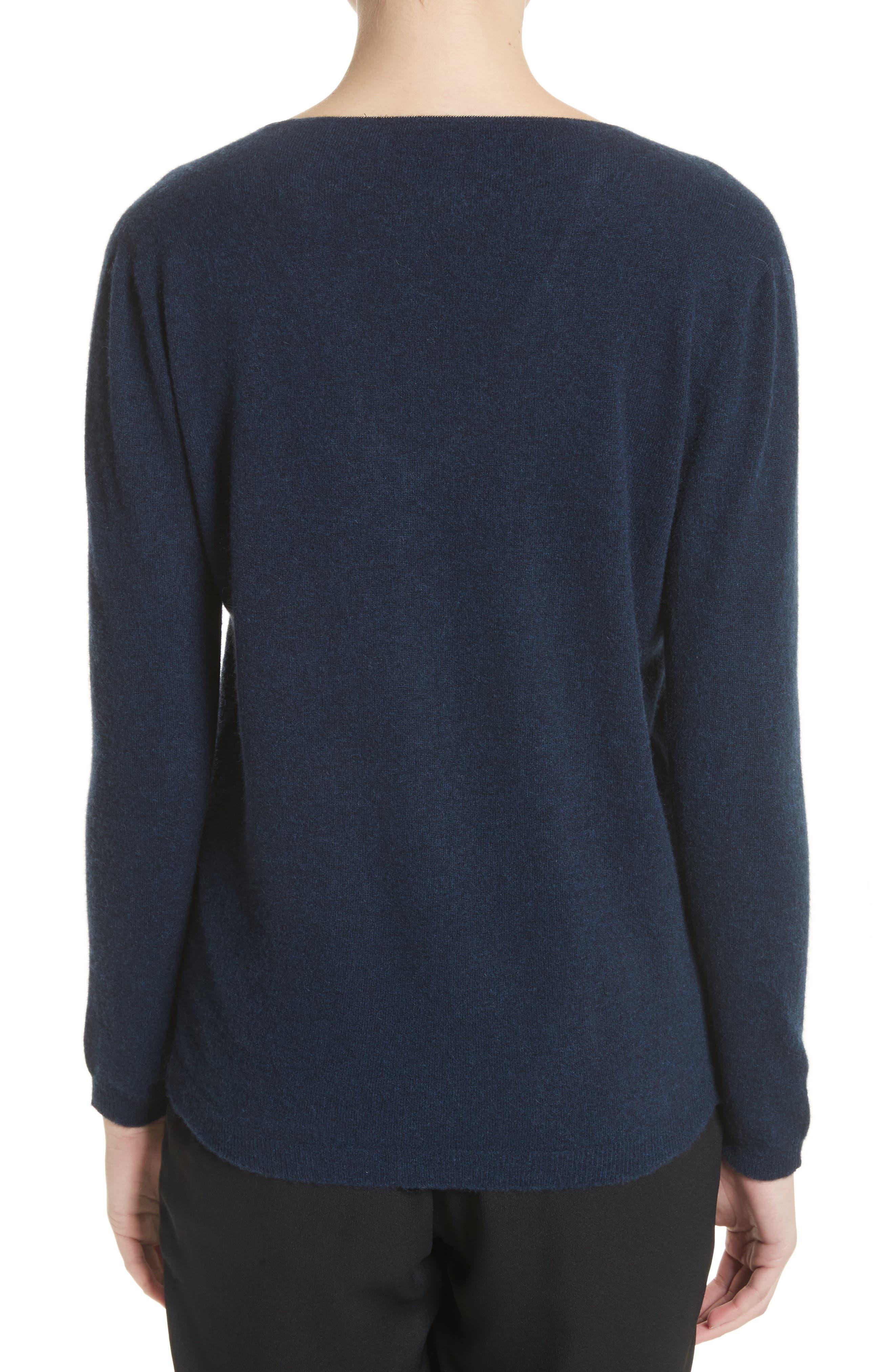 V-Neck Cashmere Sweater,                             Alternate thumbnail 4, color,