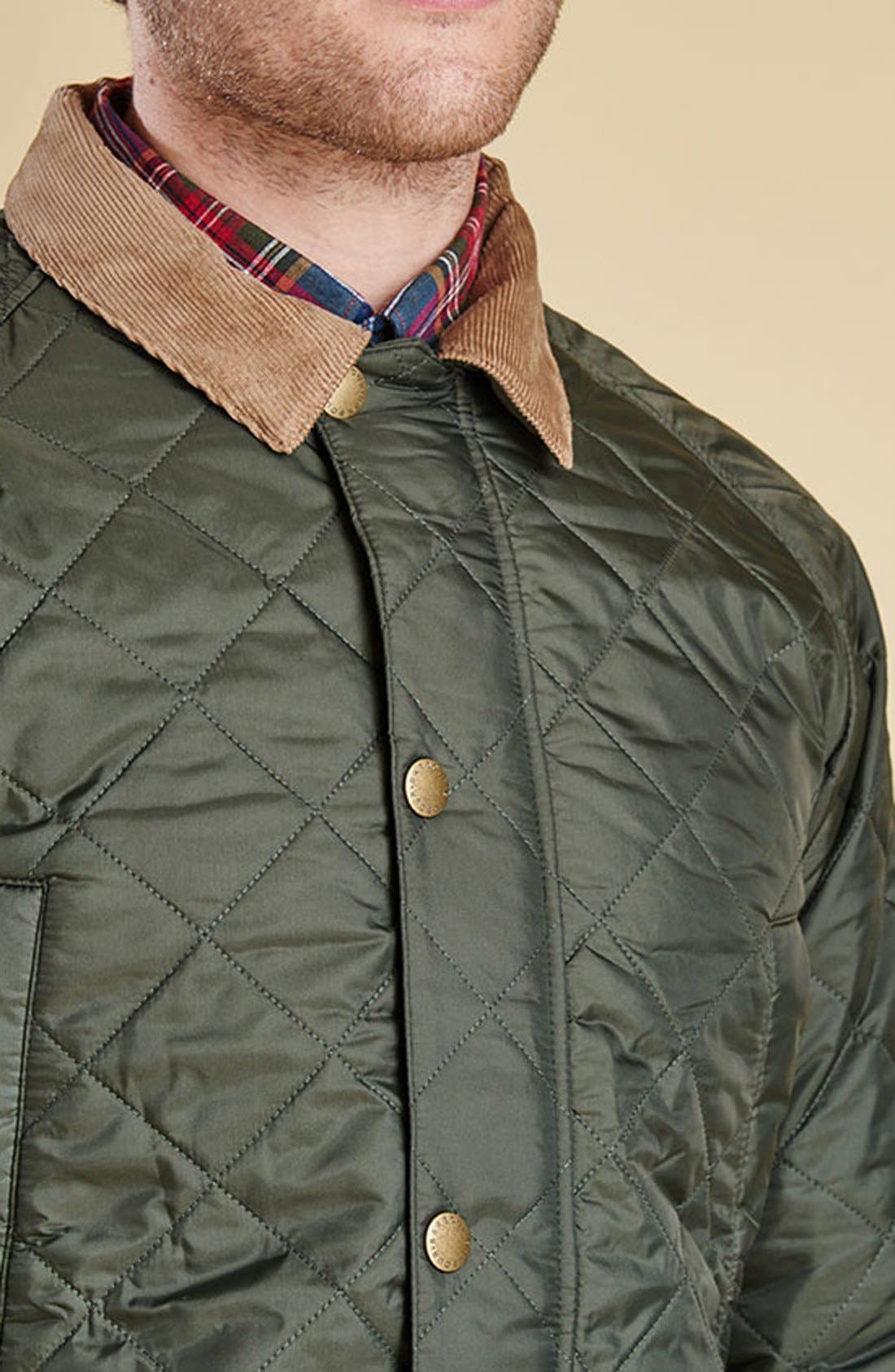'Canterdale' Slim Fit Water-Resistant Diamond Quilted Jacket,                             Alternate thumbnail 12, color,                             305