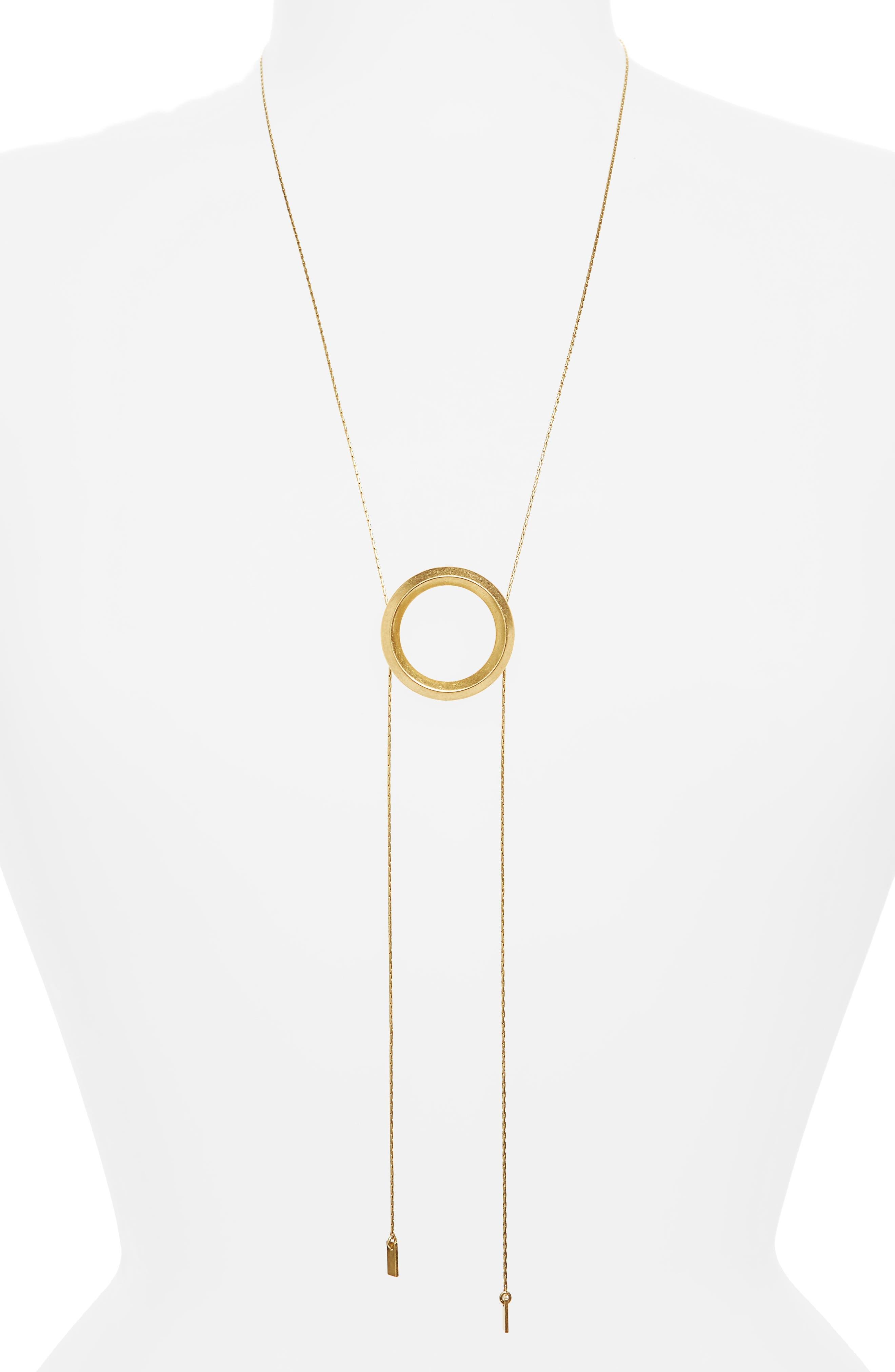 Sliding Ring Bolo Necklace,                         Main,                         color,