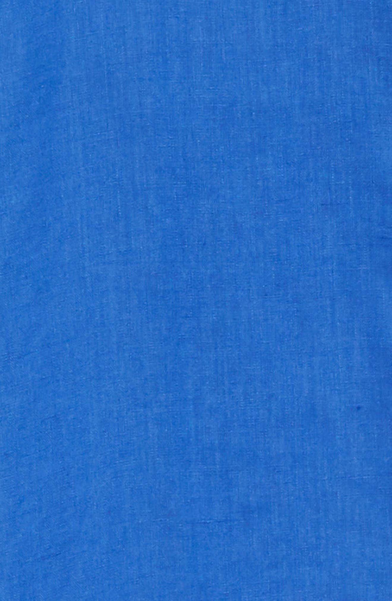 Linen Sport Shirt,                             Alternate thumbnail 6, color,                             BLUE 2