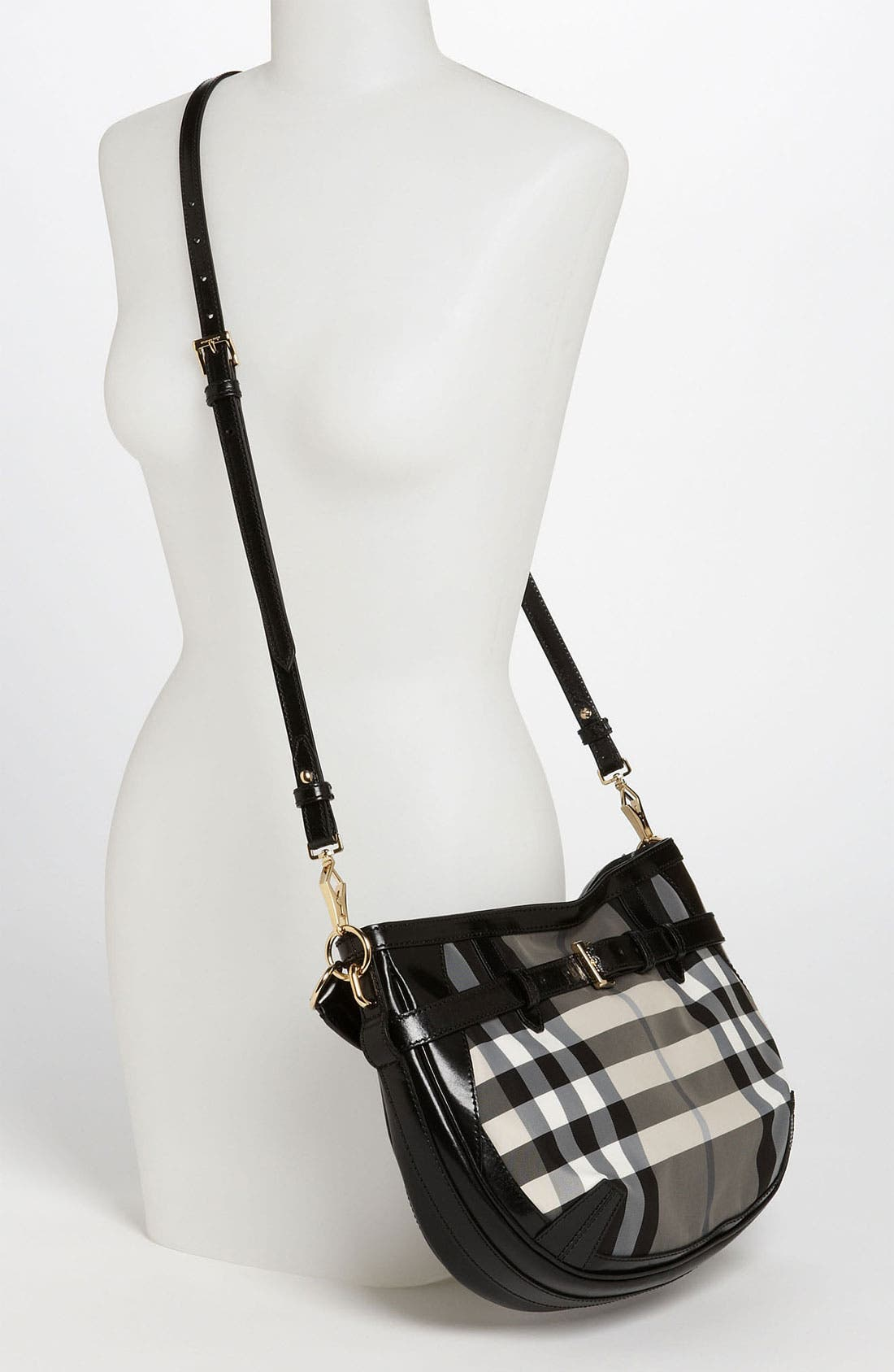 Prorsum 'Charcoal Check' Crossbody Bag,                             Alternate thumbnail 3, color,                             020