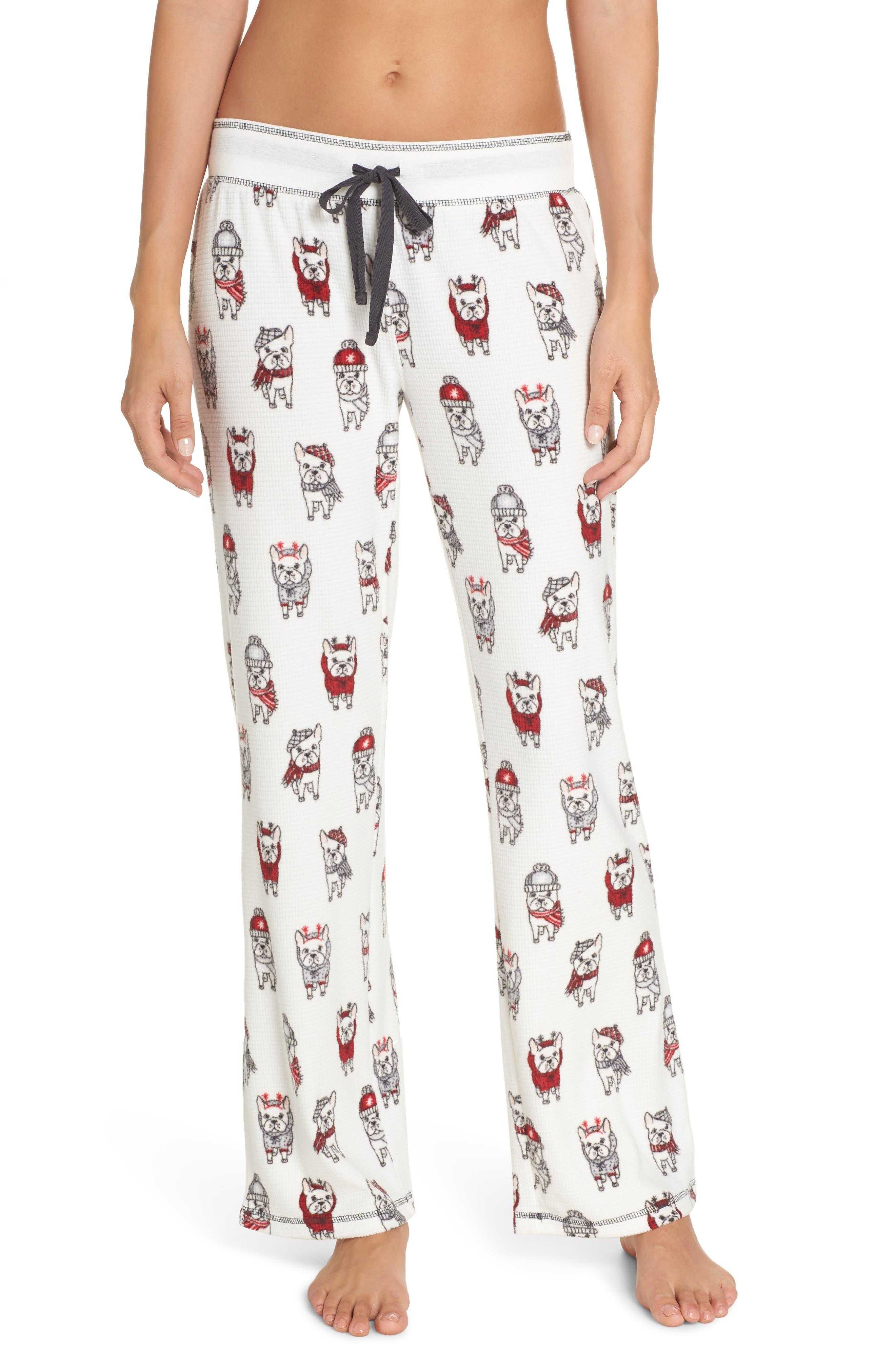 PJ SALVAGE Thermal Pajama Pants in Ivory