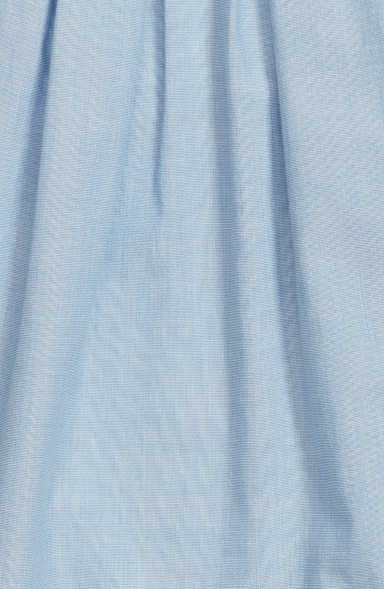 Pleated Chambray Gaucho Pants,                             Alternate thumbnail 3, color,