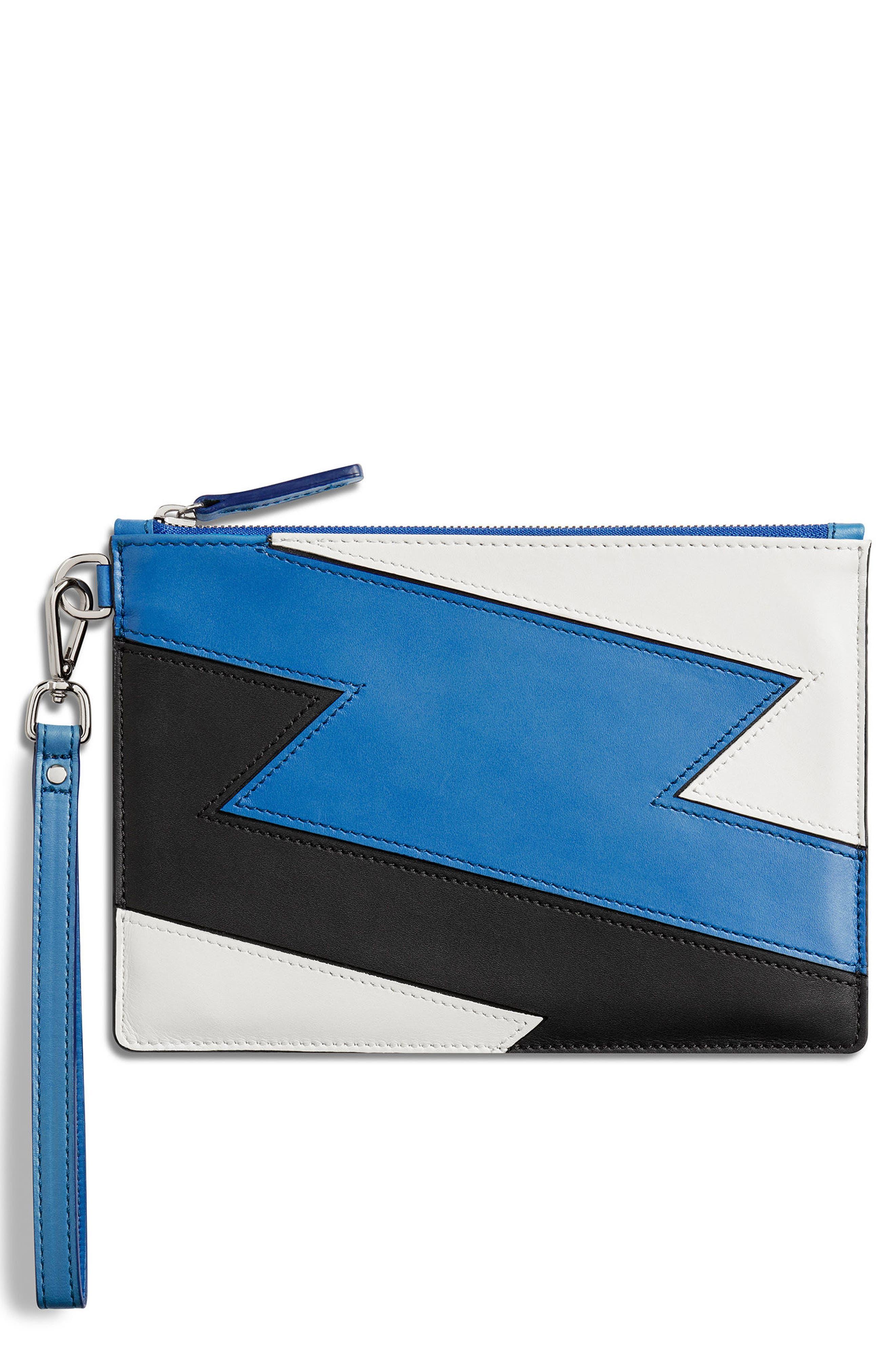 Bolt Nappa Leather Wristlet,                             Main thumbnail 1, color,                             427