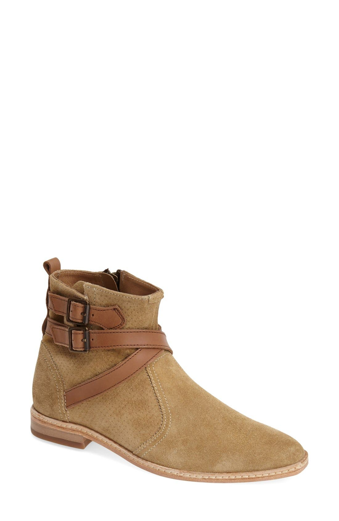 'Tab' Suede Chelsea Bootie,                             Main thumbnail 2, color,