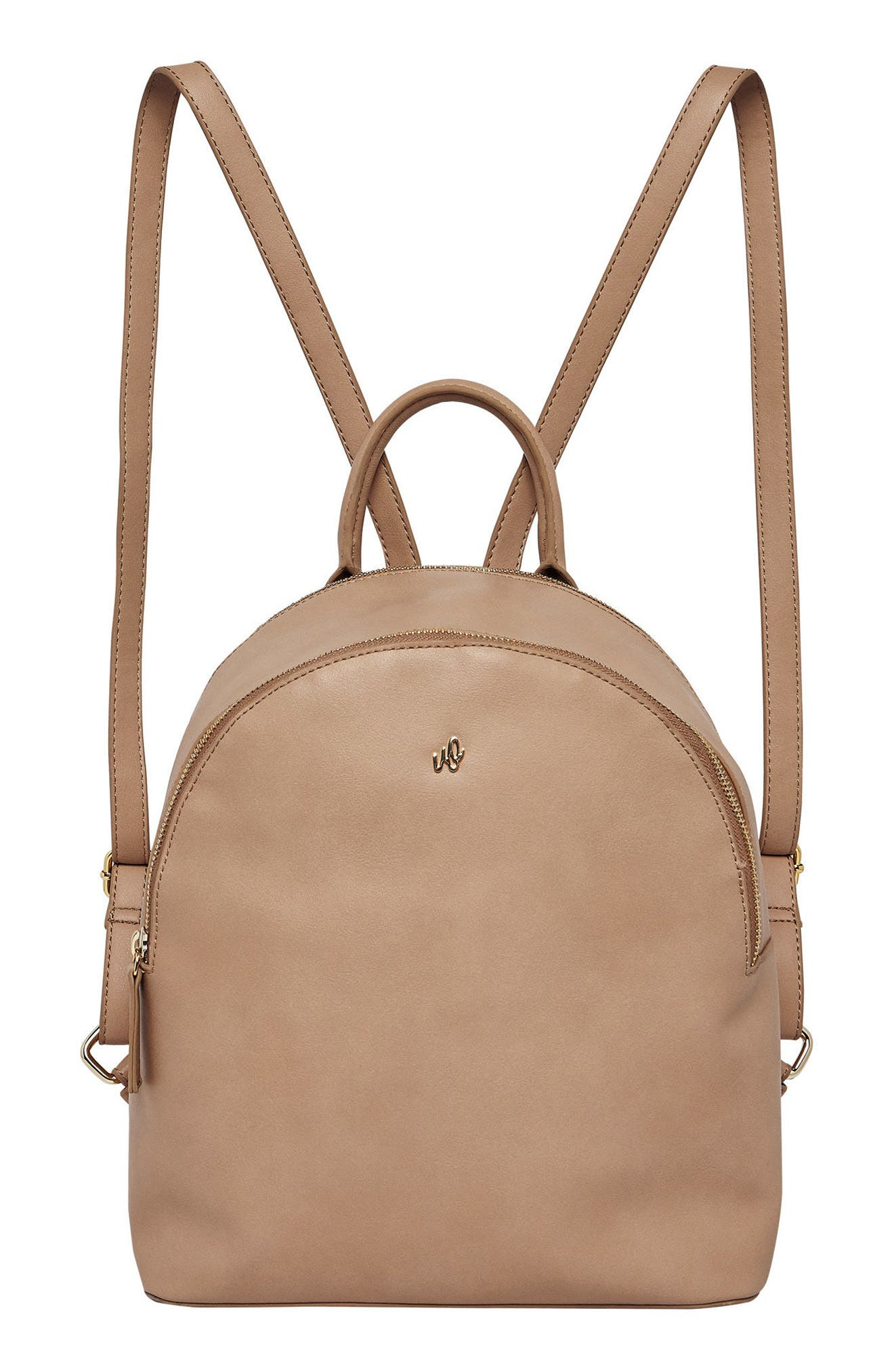 Magic Vegan Leather Backpack,                             Main thumbnail 1, color,                             CAMEL