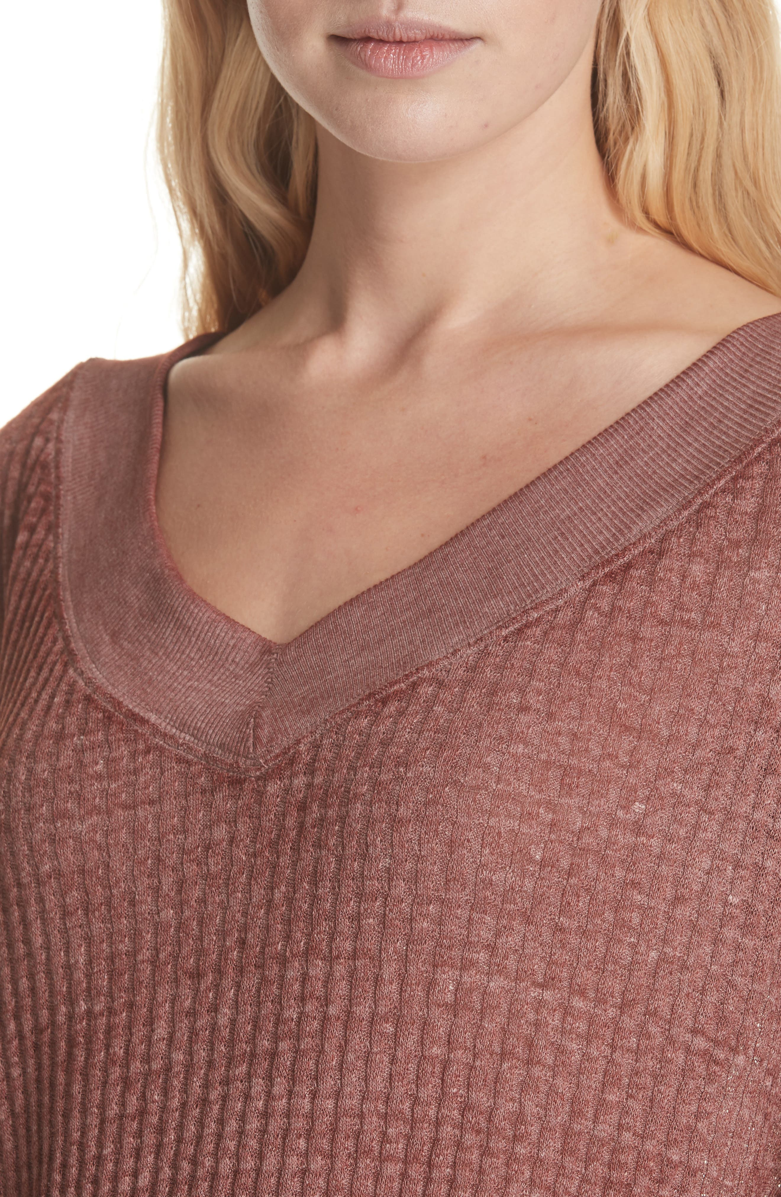 We the Free by Free People South Side Thermal Top,                             Alternate thumbnail 4, color,                             CINNAMON