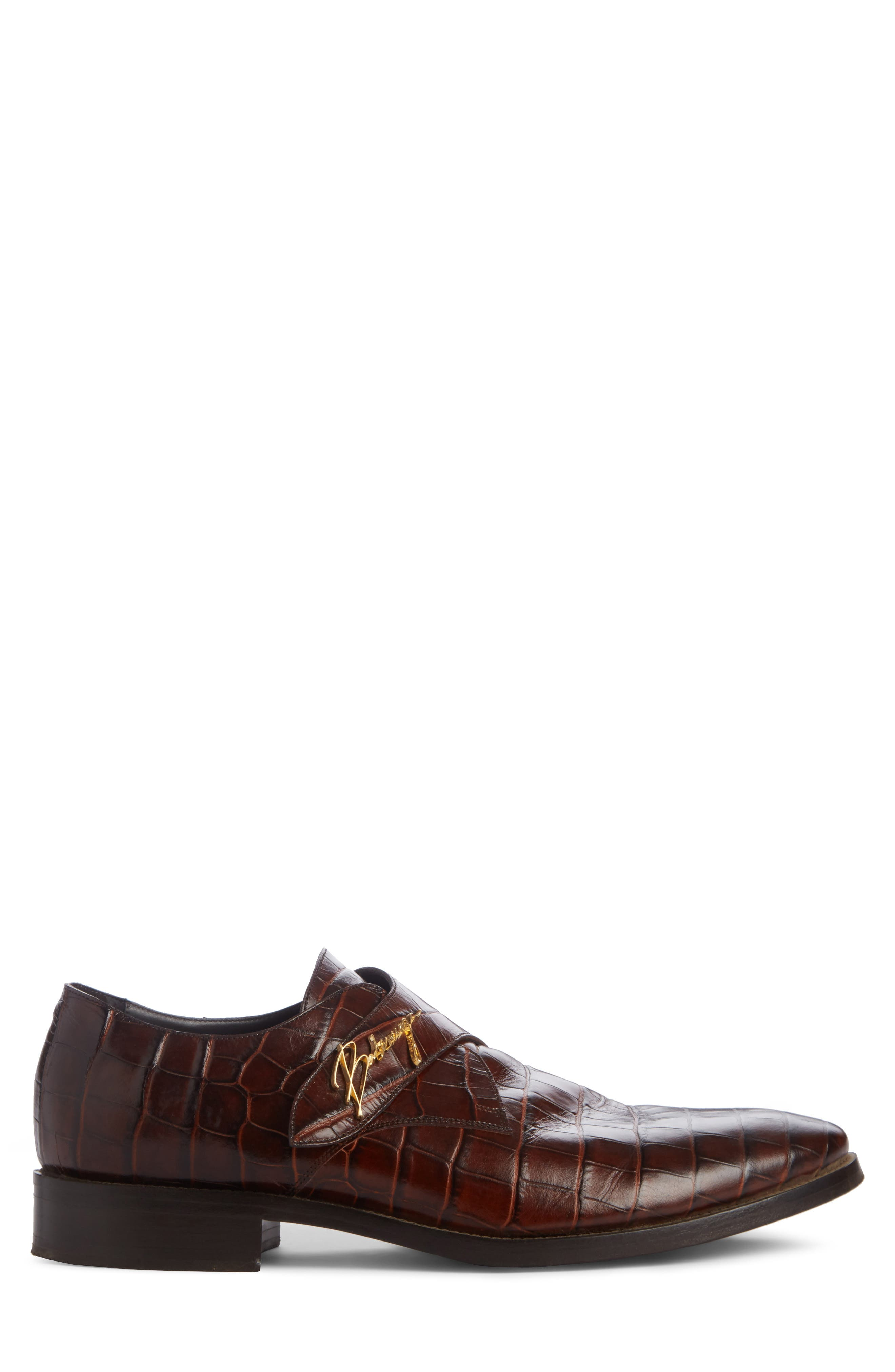 Monk Strap Shoe,                             Alternate thumbnail 3, color,                             MARRON CHOCOLAT