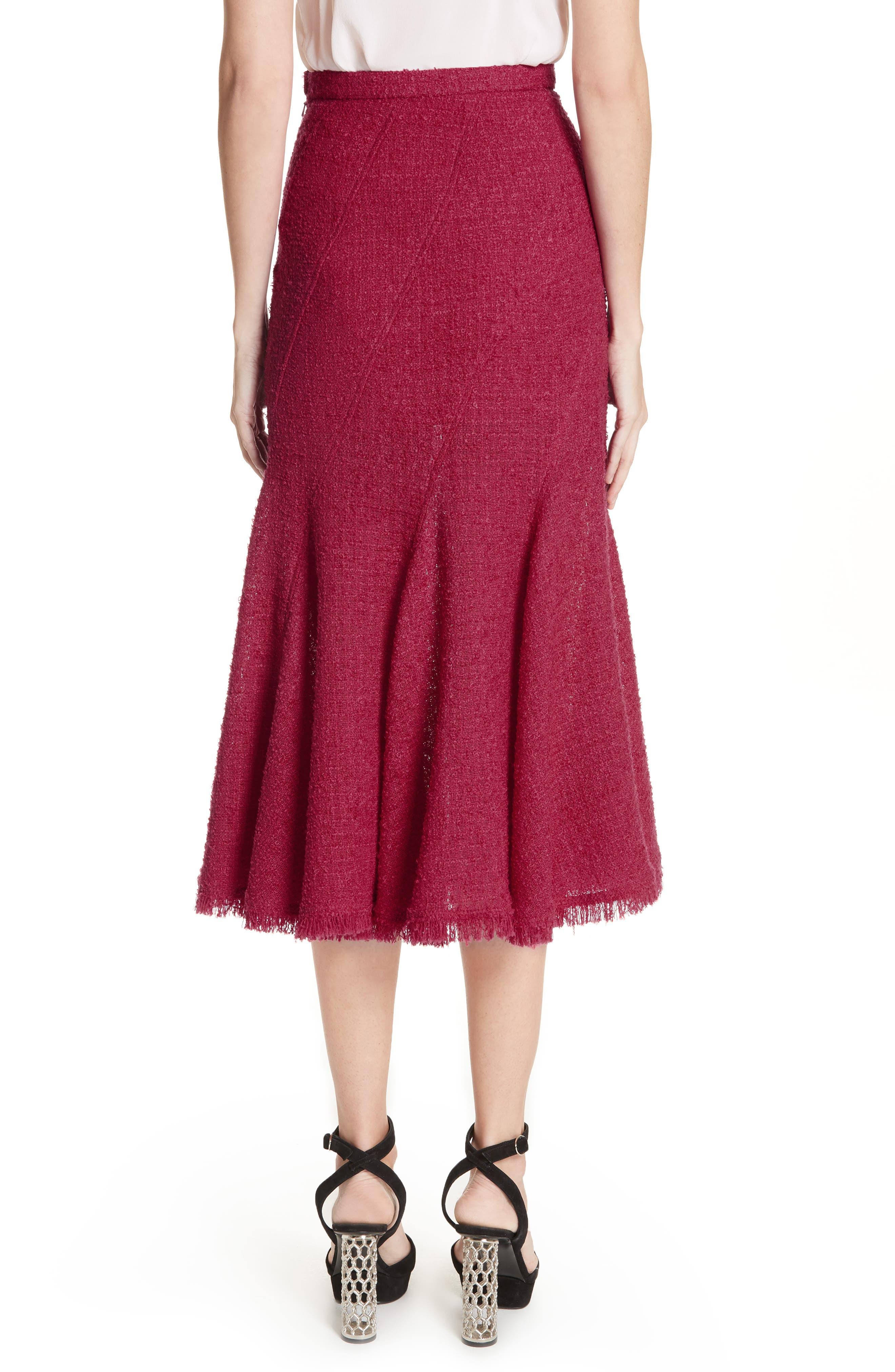 Flare Hem Tweed Skirt,                             Alternate thumbnail 2, color,                             607