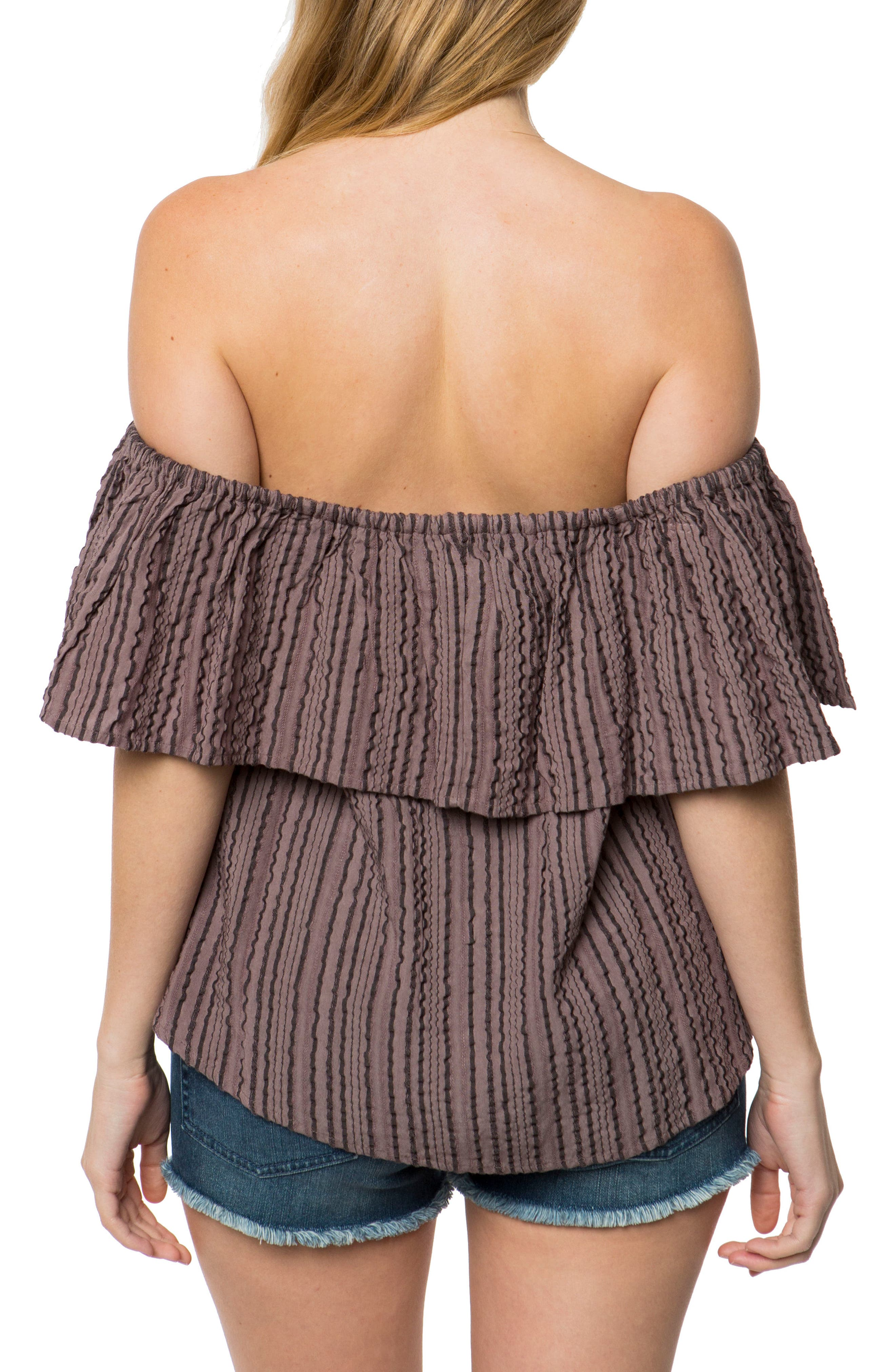 Winona Off the Shoulder Ruffle Top,                             Alternate thumbnail 2, color,                             020