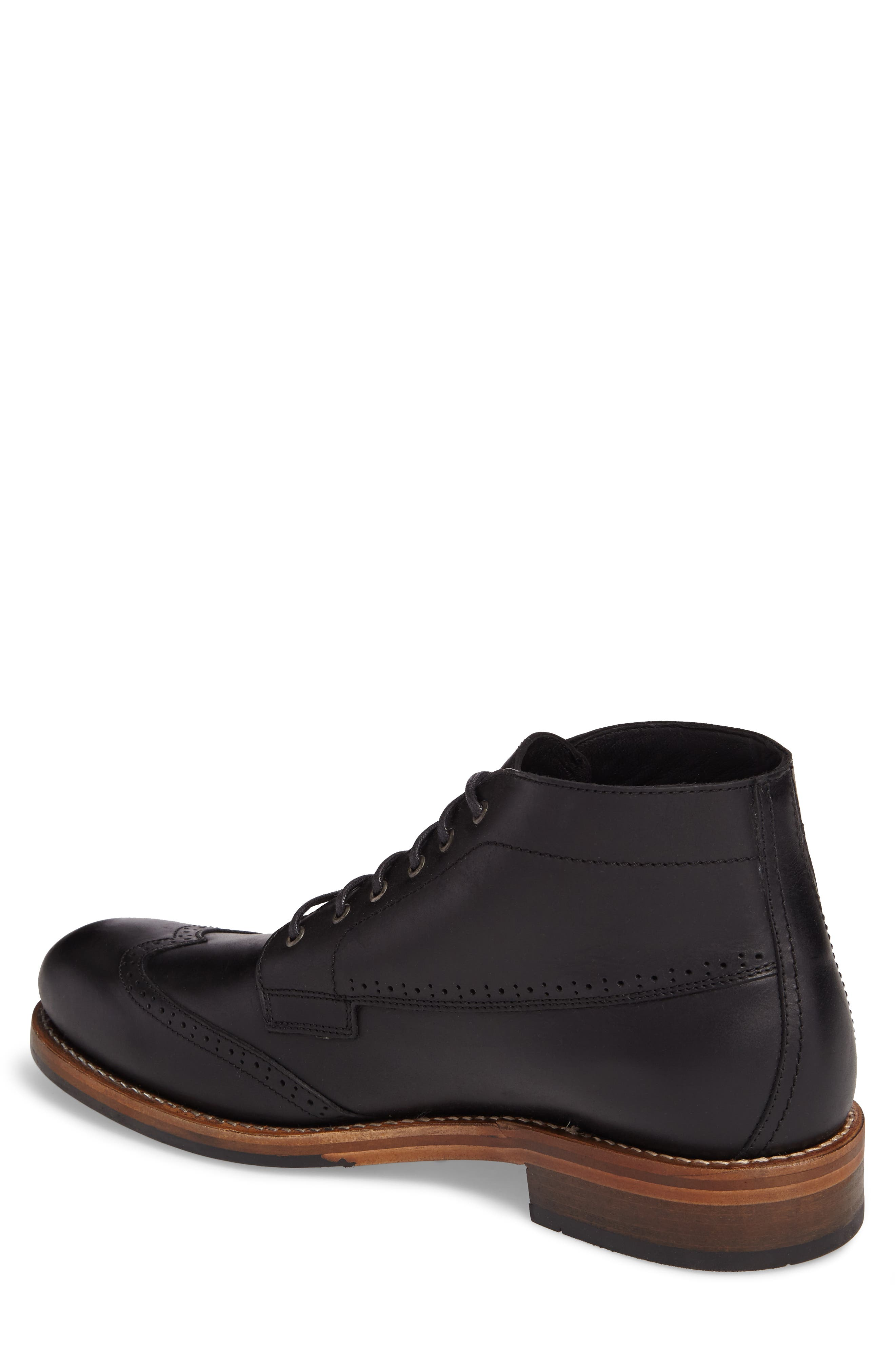 Harwell Wingtip Boot,                             Alternate thumbnail 2, color,                             BLACK