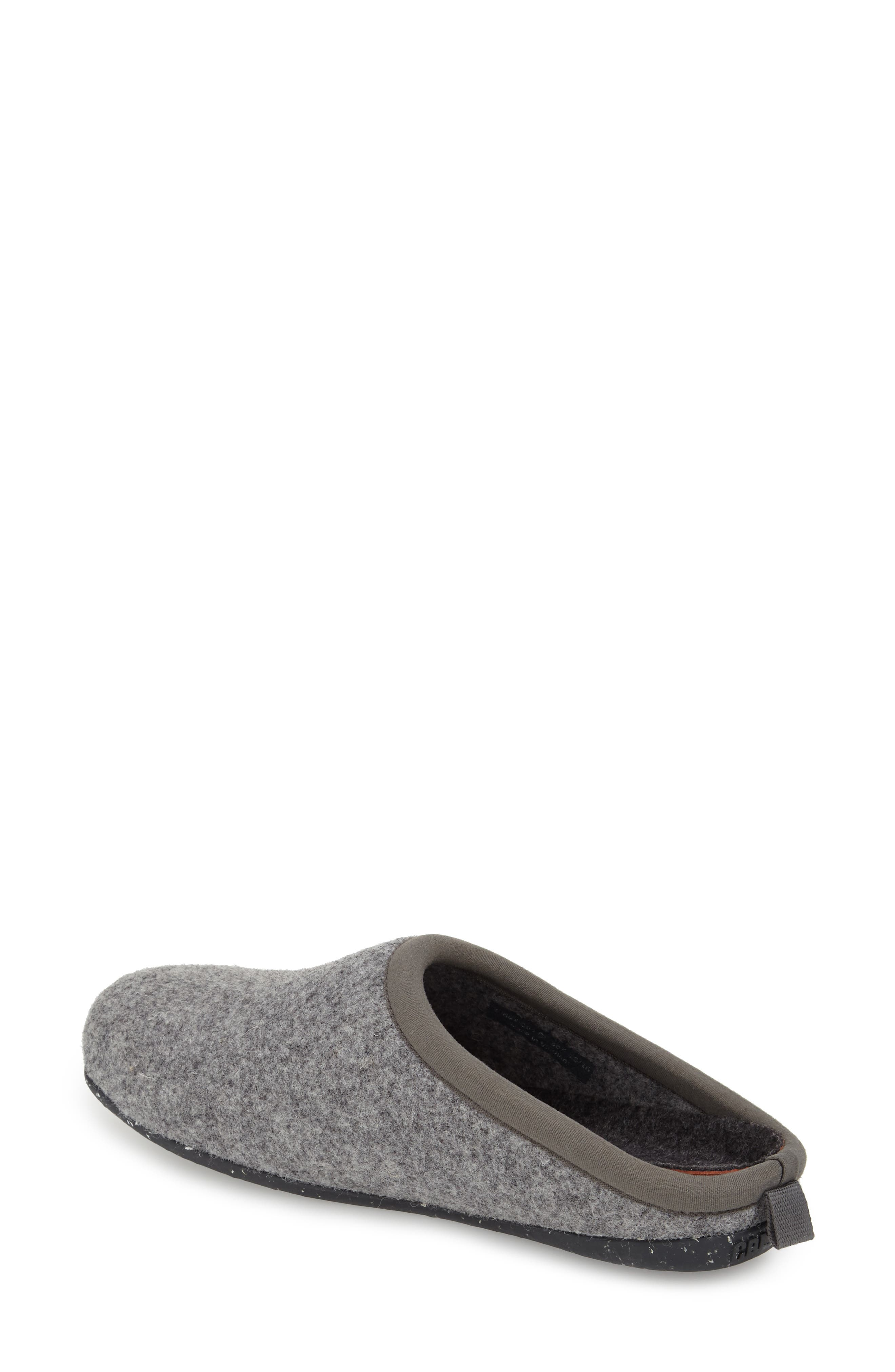 'Wabi' Slipper,                         Main,                         color, DARK GRAY WOOL