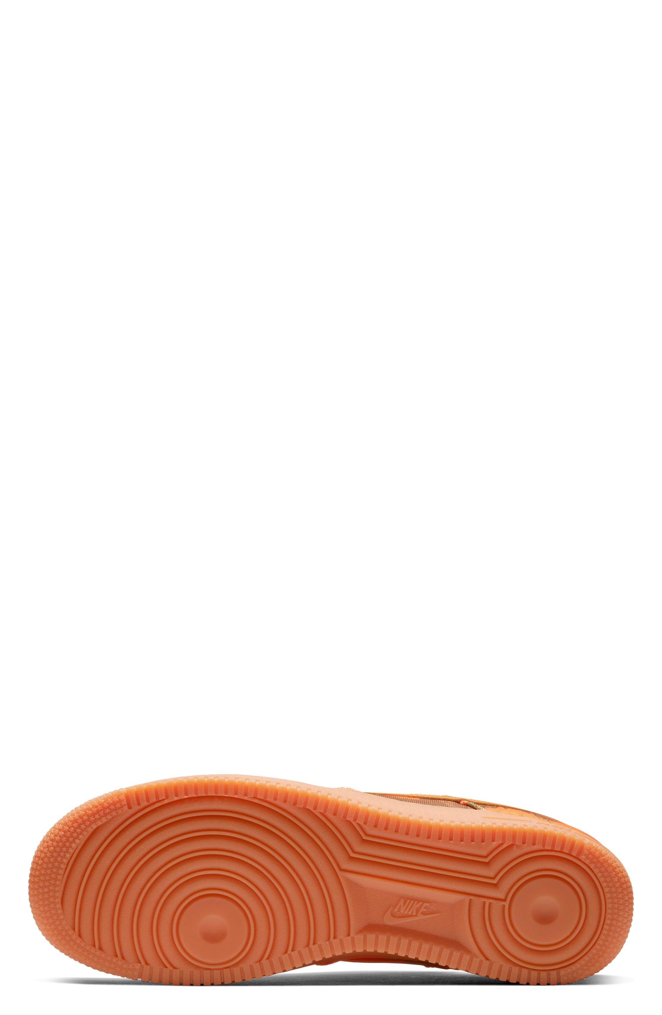 NIKE,                             Air Force 1 '07 LV8 3 Sneaker,                             Alternate thumbnail 5, color,                             ORANGE BLAZE/ WHITE/ BROWN