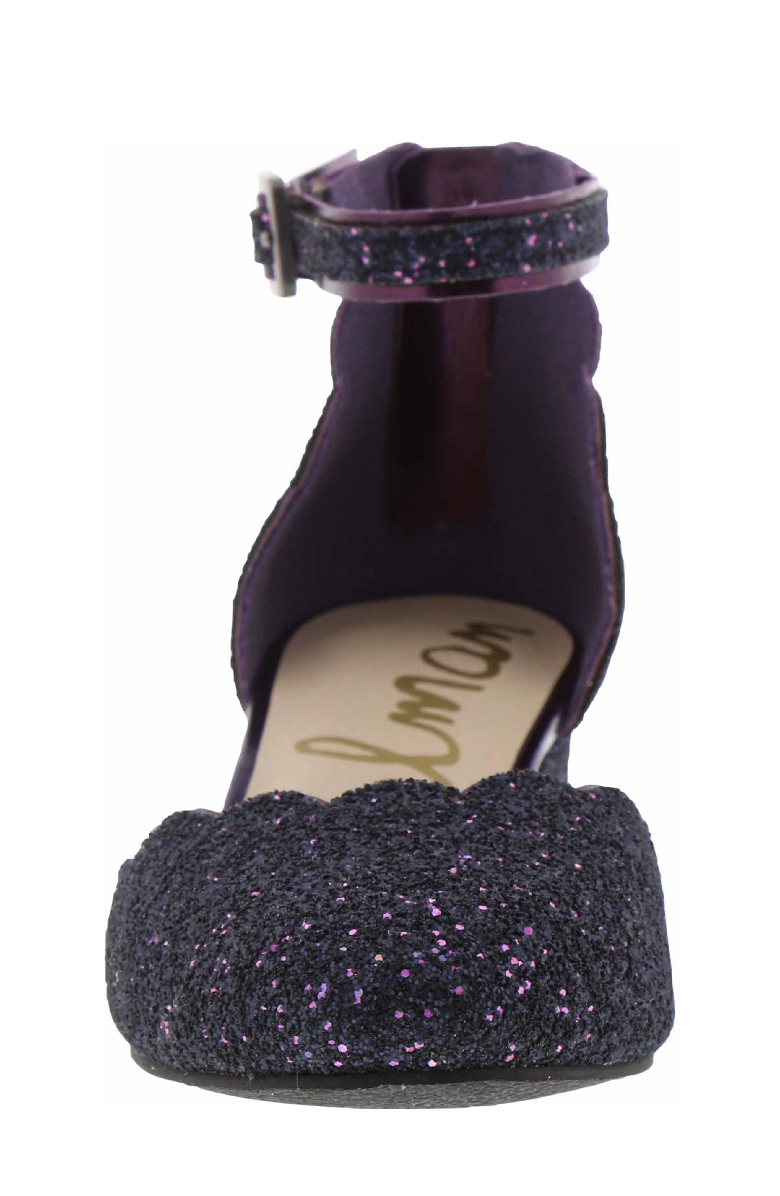Evelyn Inara Glitter Ankle Strap Pump,                             Alternate thumbnail 3, color,                             PURPLE MULTI