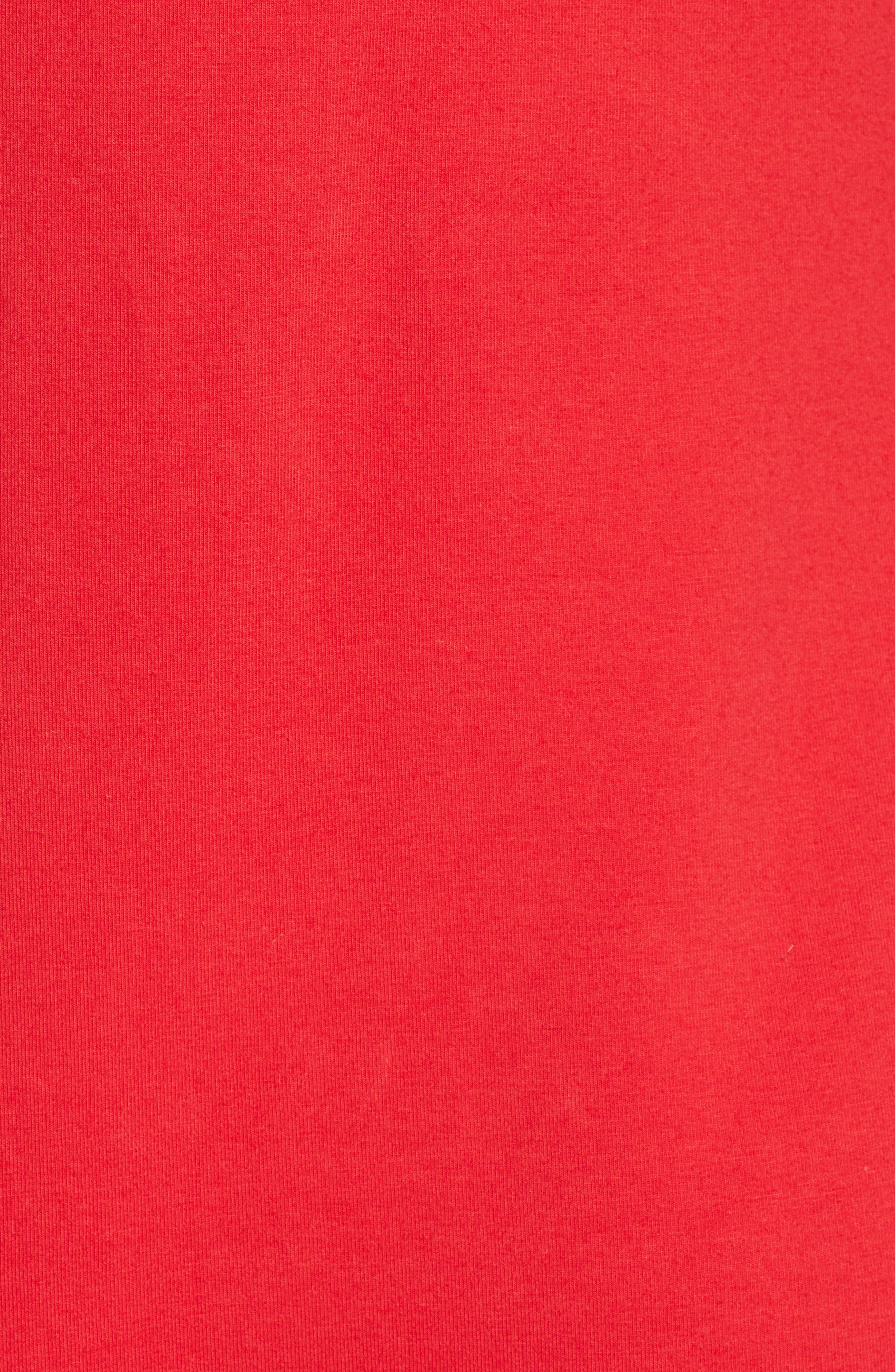 Riley Logo Tank Bodysuit,                             Alternate thumbnail 6, color,                             CHINESE RED/ PEACOAT
