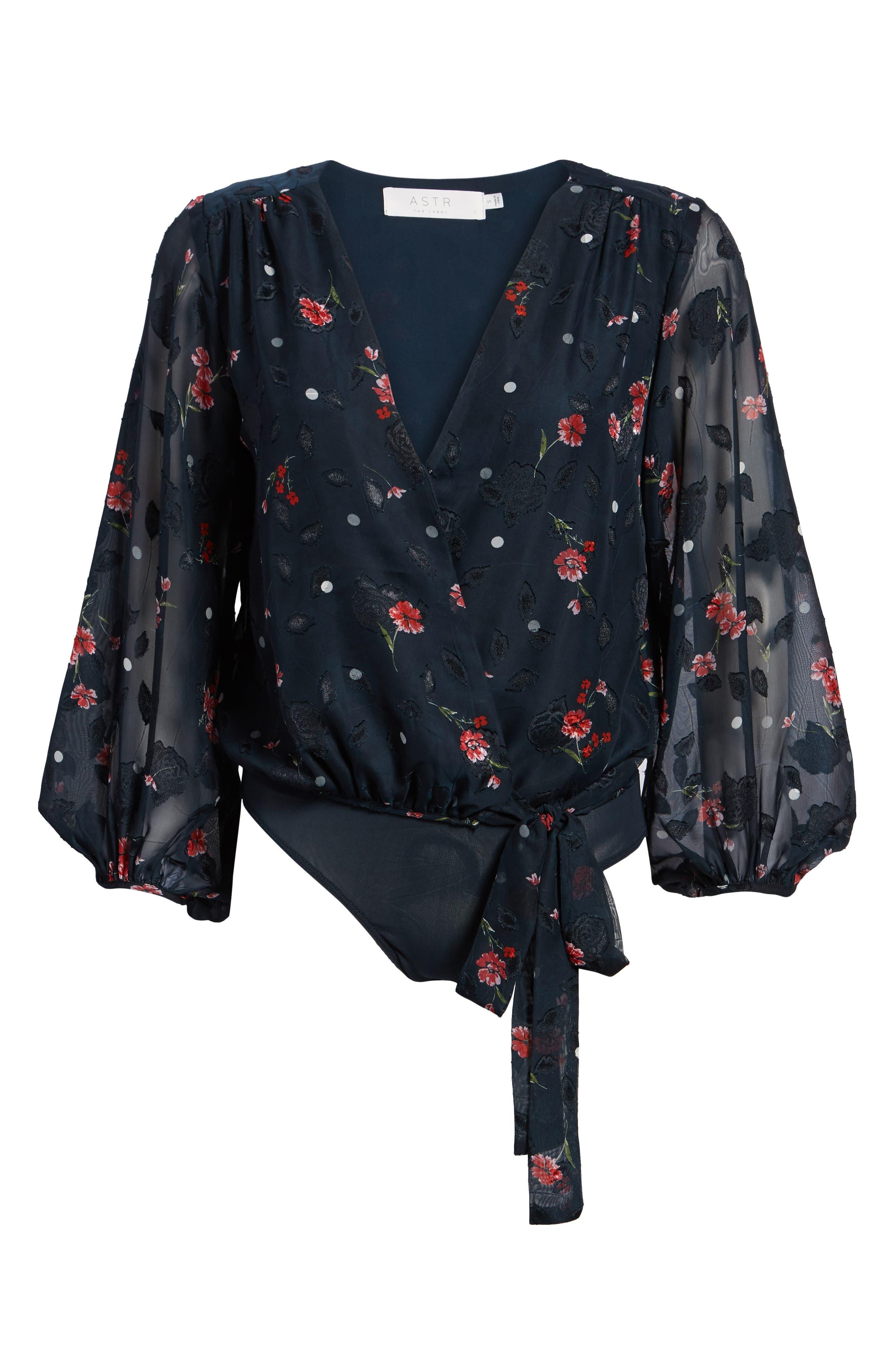Jill Tie Front Bodysuit,                             Alternate thumbnail 6, color,                             400