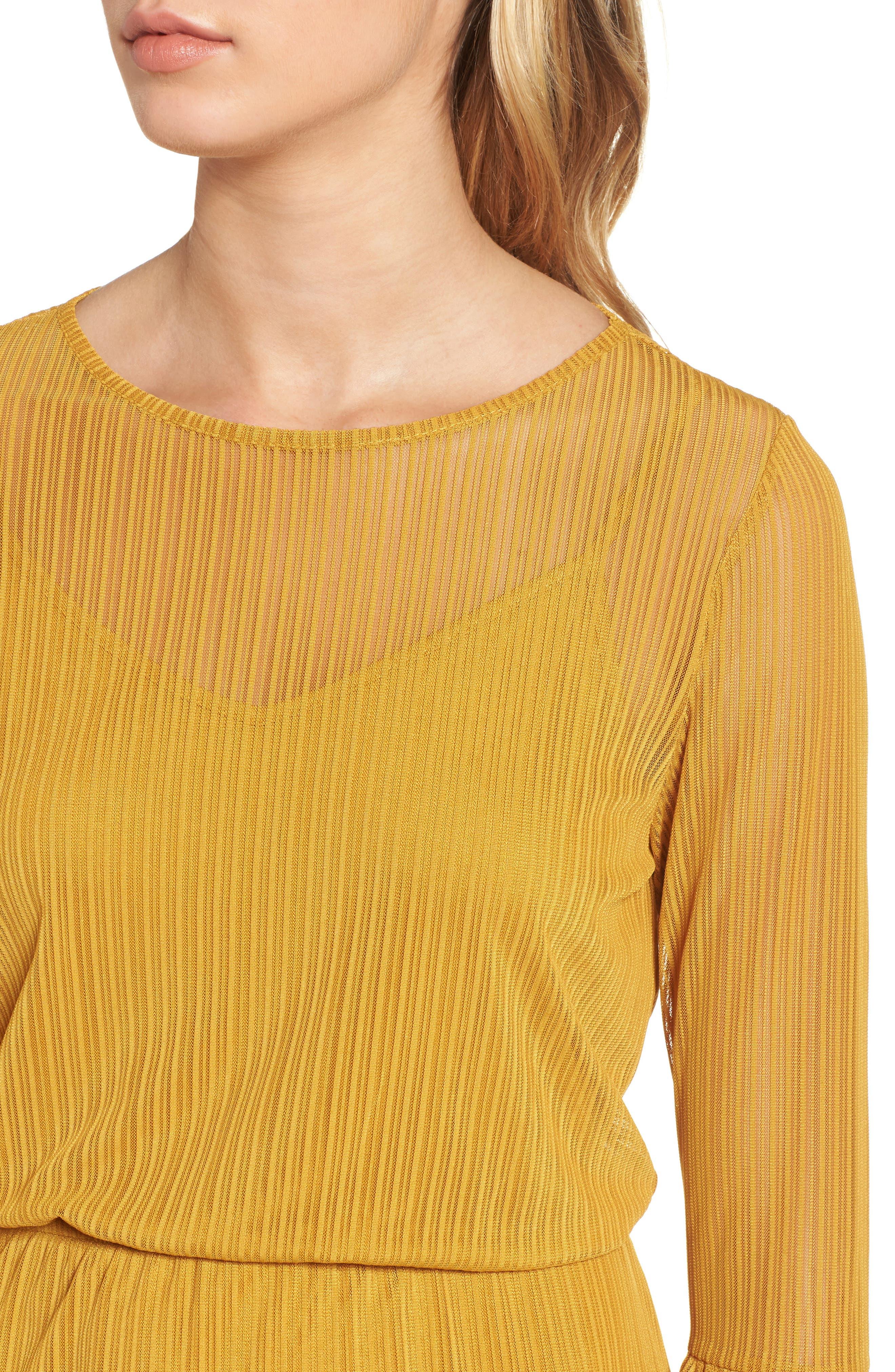 Blouson Dress,                             Alternate thumbnail 4, color,