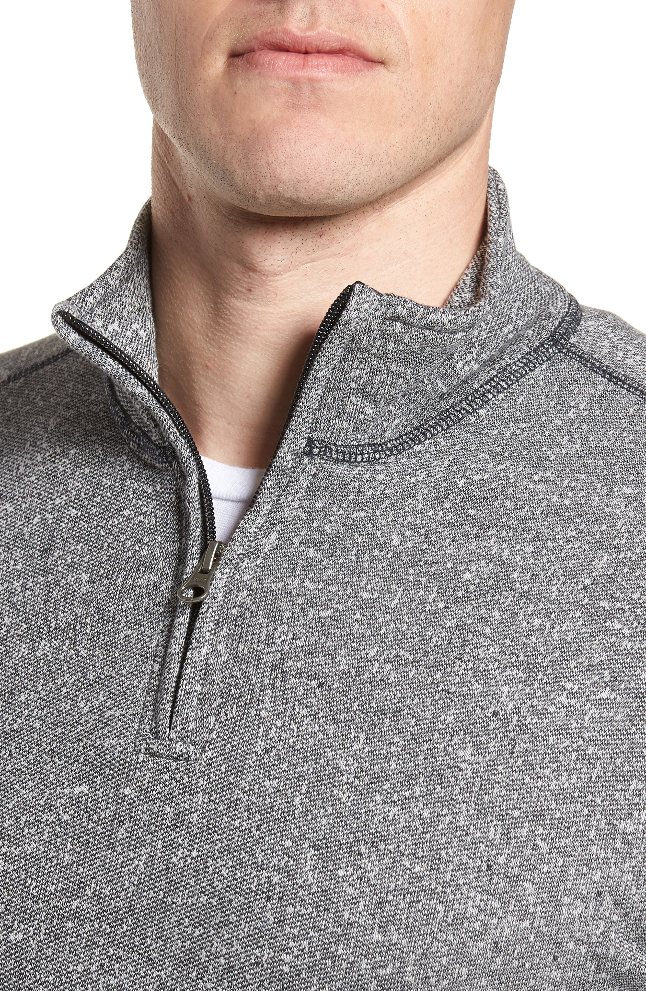 Regular Fit French Terry Pullover,                             Alternate thumbnail 4, color,                             CHARCOAL