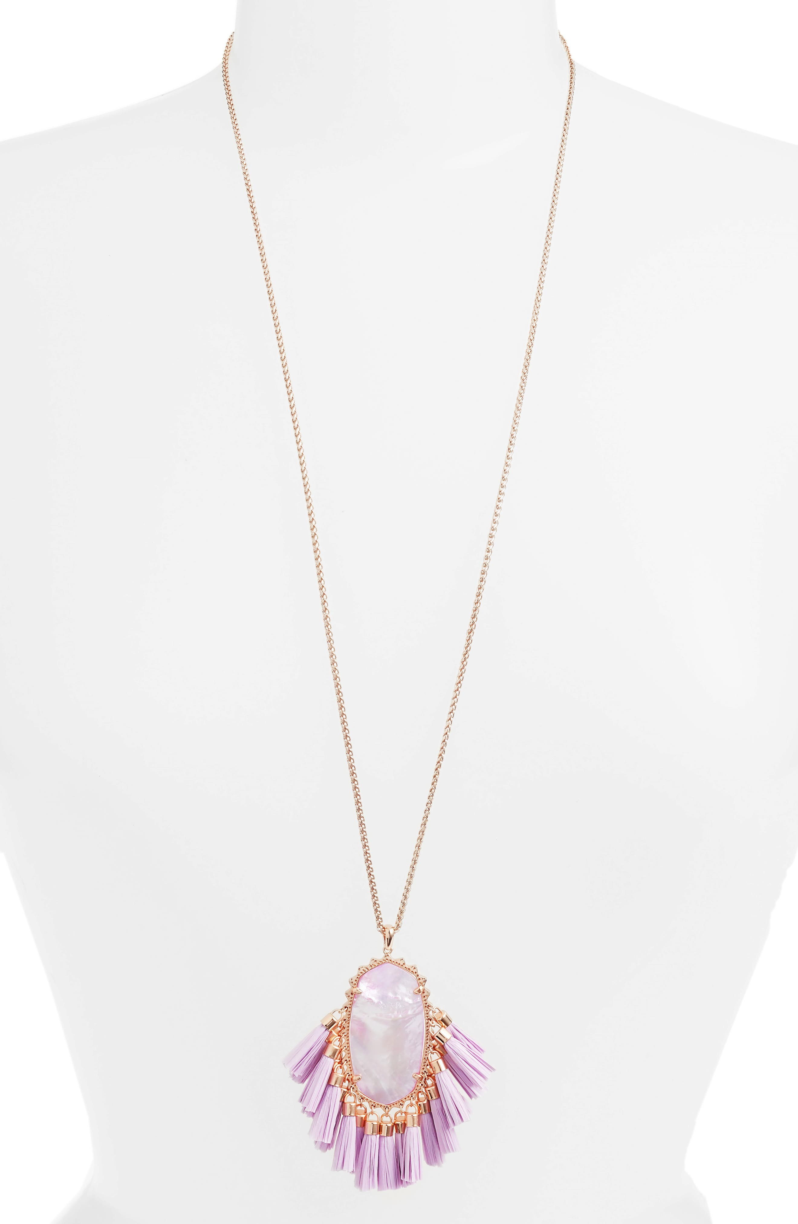 Betsy Pendant Necklace,                             Main thumbnail 1, color,                             LILAC MOP/ ROSE GOLD
