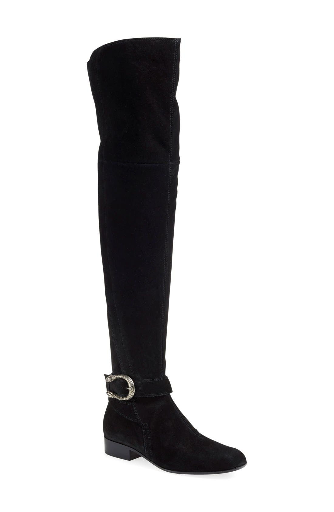 'Dionysus' Over the Knee Boot,                             Main thumbnail 1, color,                             001