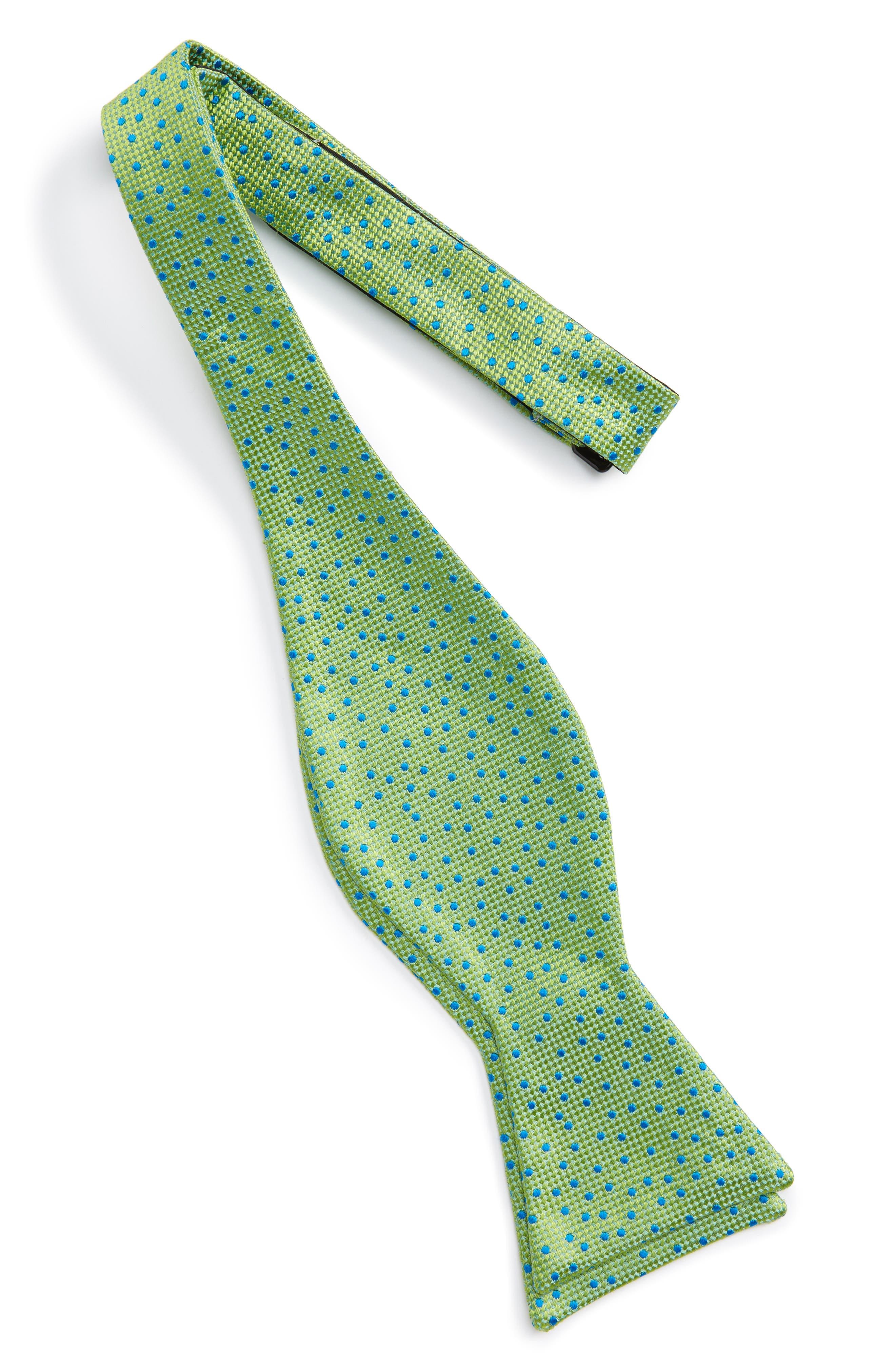 Jacquard Micro Dot Silk Bow Tie,                             Alternate thumbnail 3, color,                             300